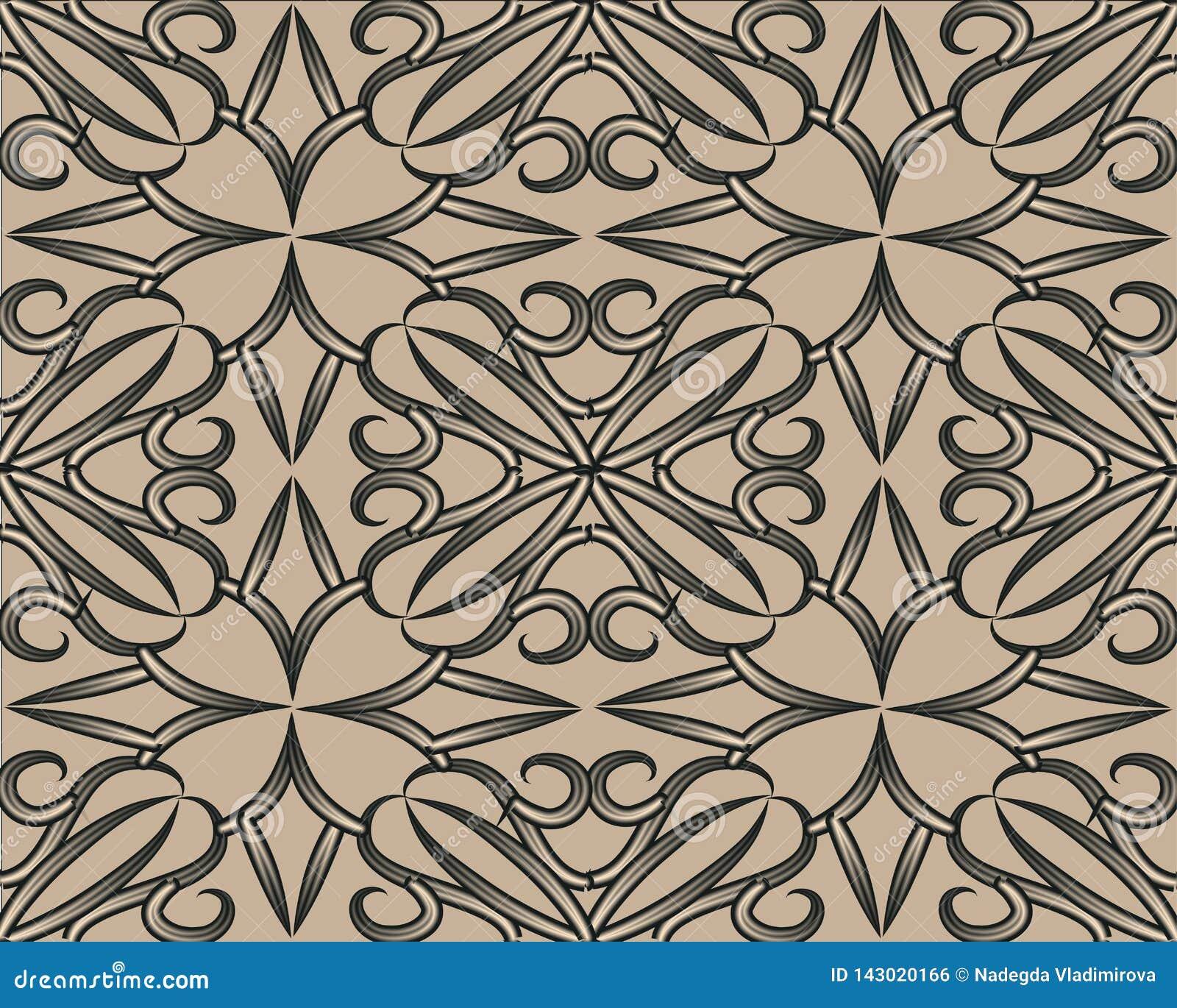 Modèle sans couture de vecteur avec l abstraction Rose brune abstraite
