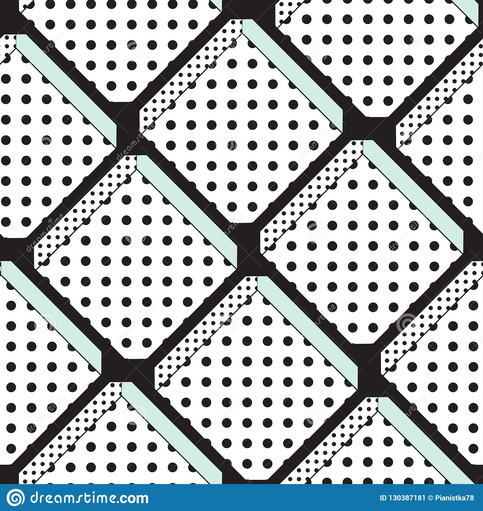 Modèle sans couture de vecteur avec l ornement diagonal classique