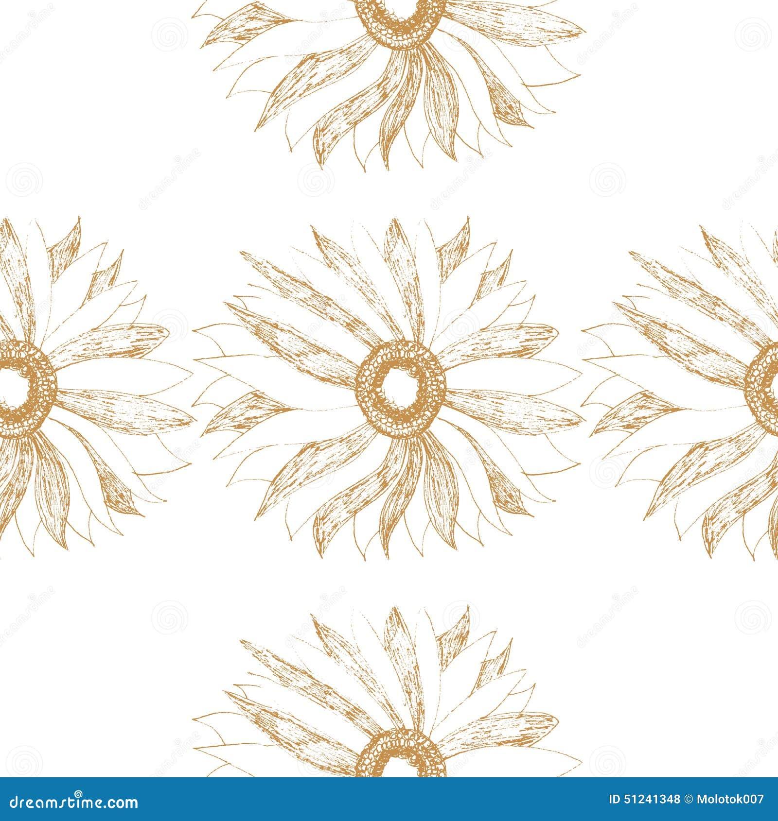 Modèle sans couture de vintage de vecteur avec la fleur mignonne