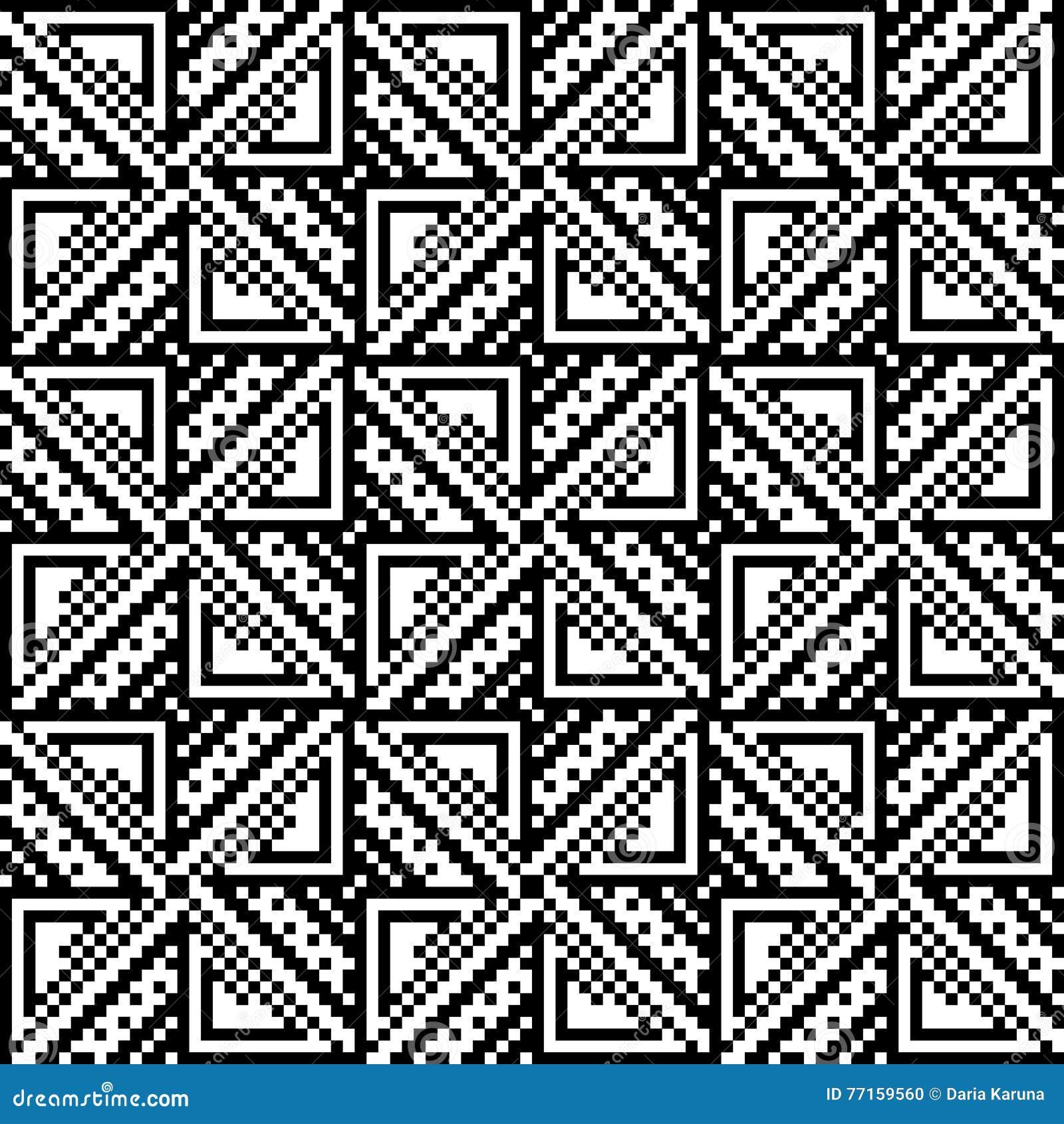 Modèle sans couture des places et des triangles