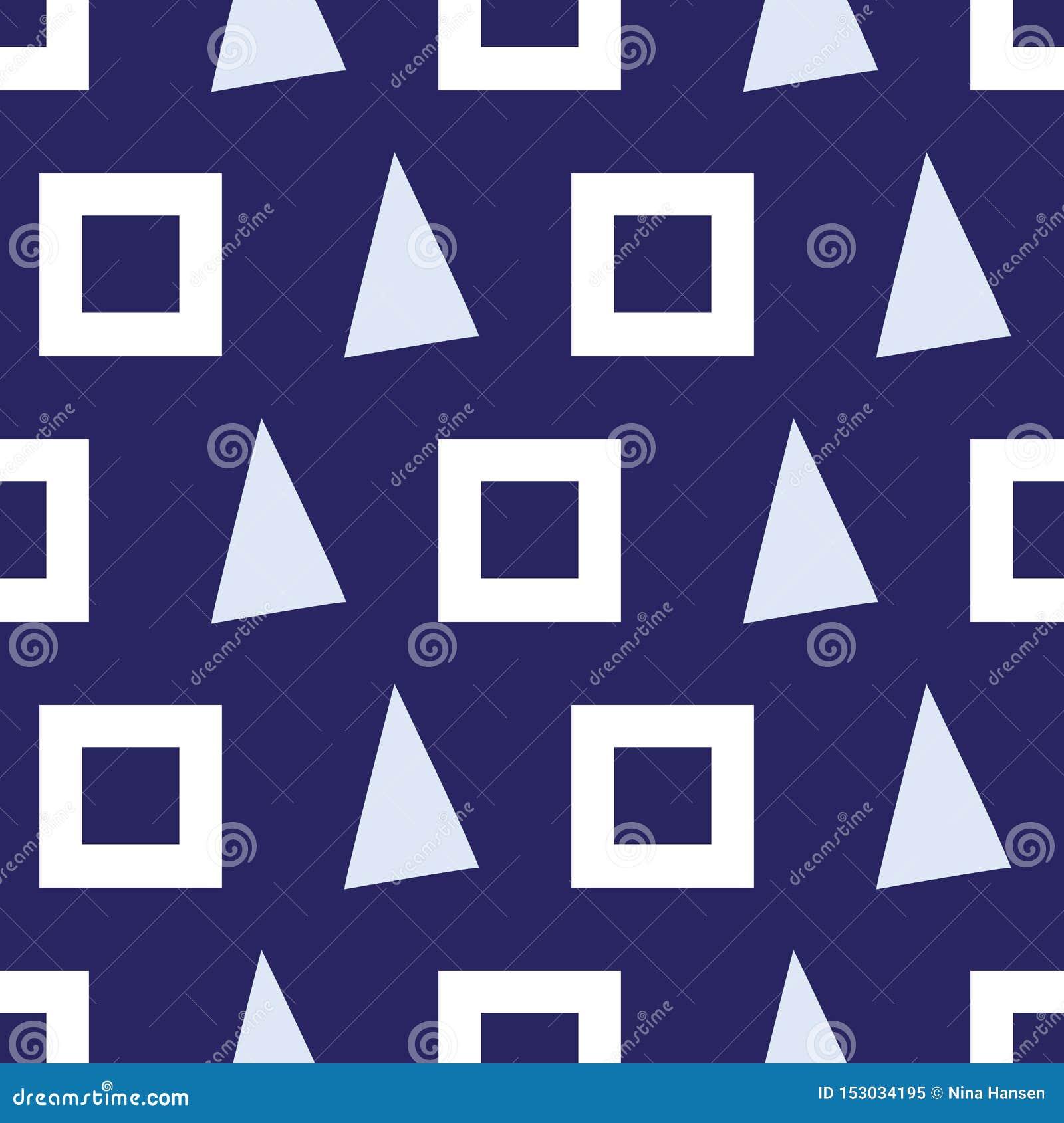 Modèle sans couture des triangles et des places sur un fond de marine