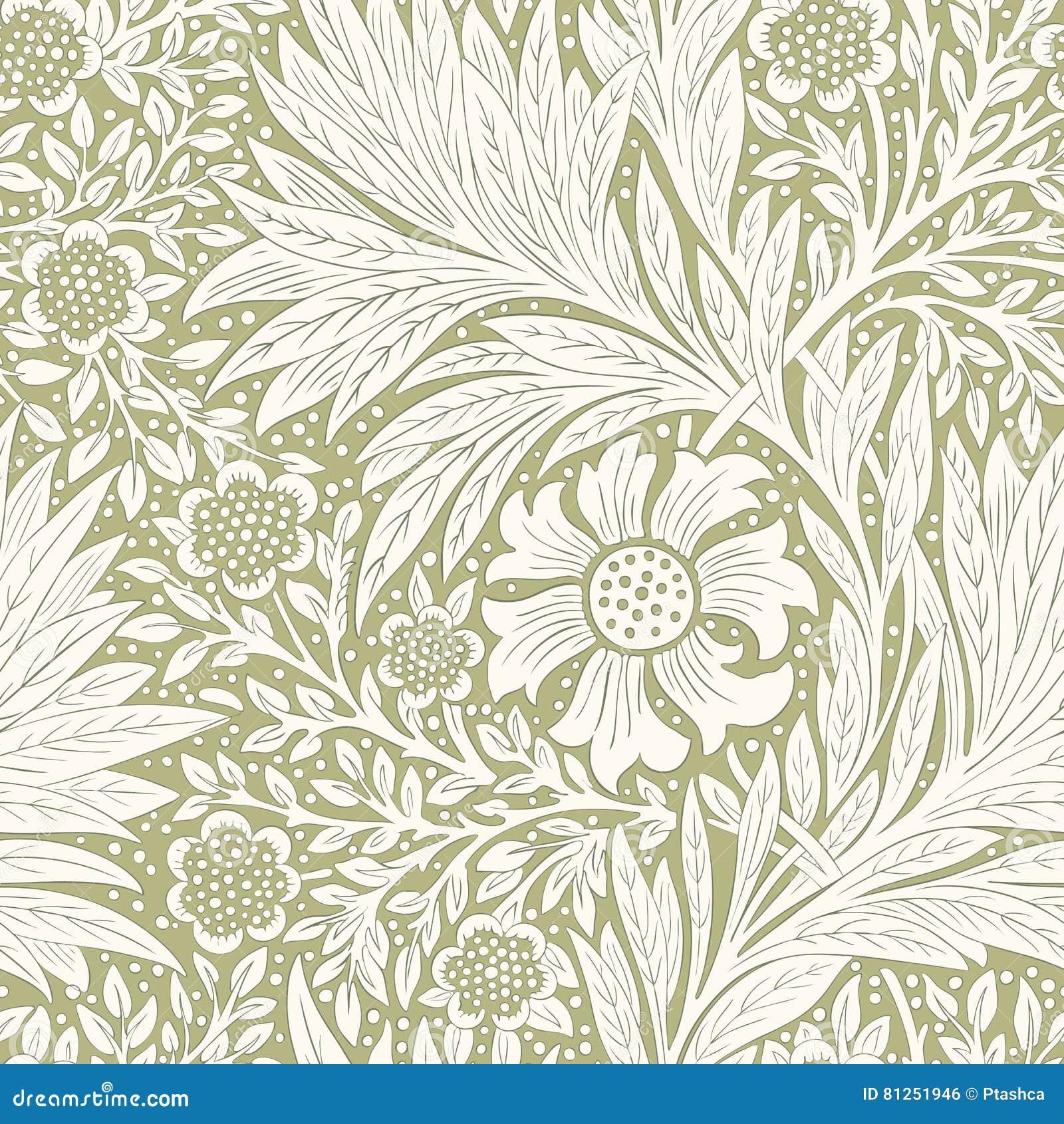 Papier Peint Pour Bureau modèle sans couture floral moderne pour votre conception