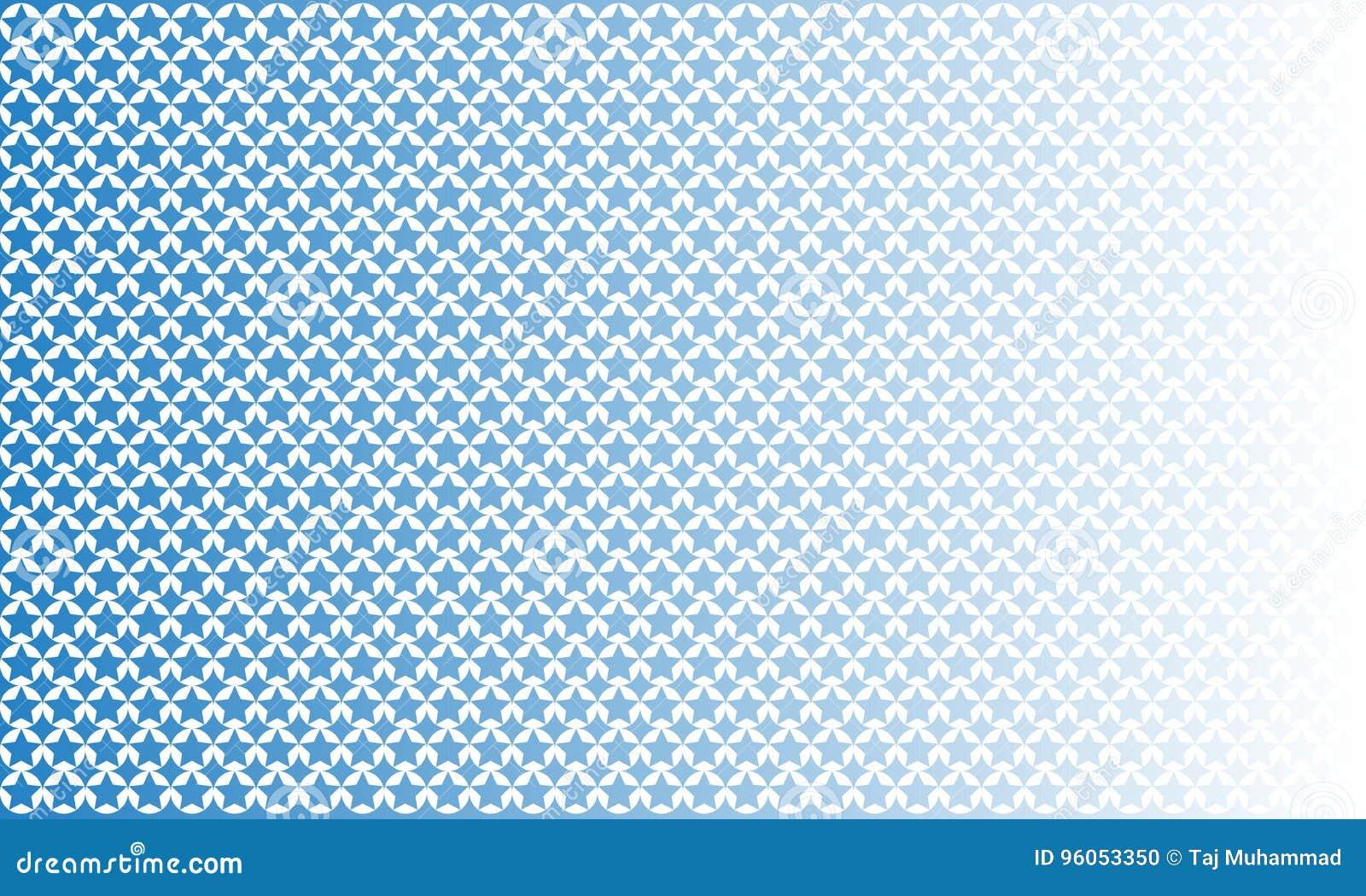 Modèle sans couture géométrique de forme unique d étoile, fond