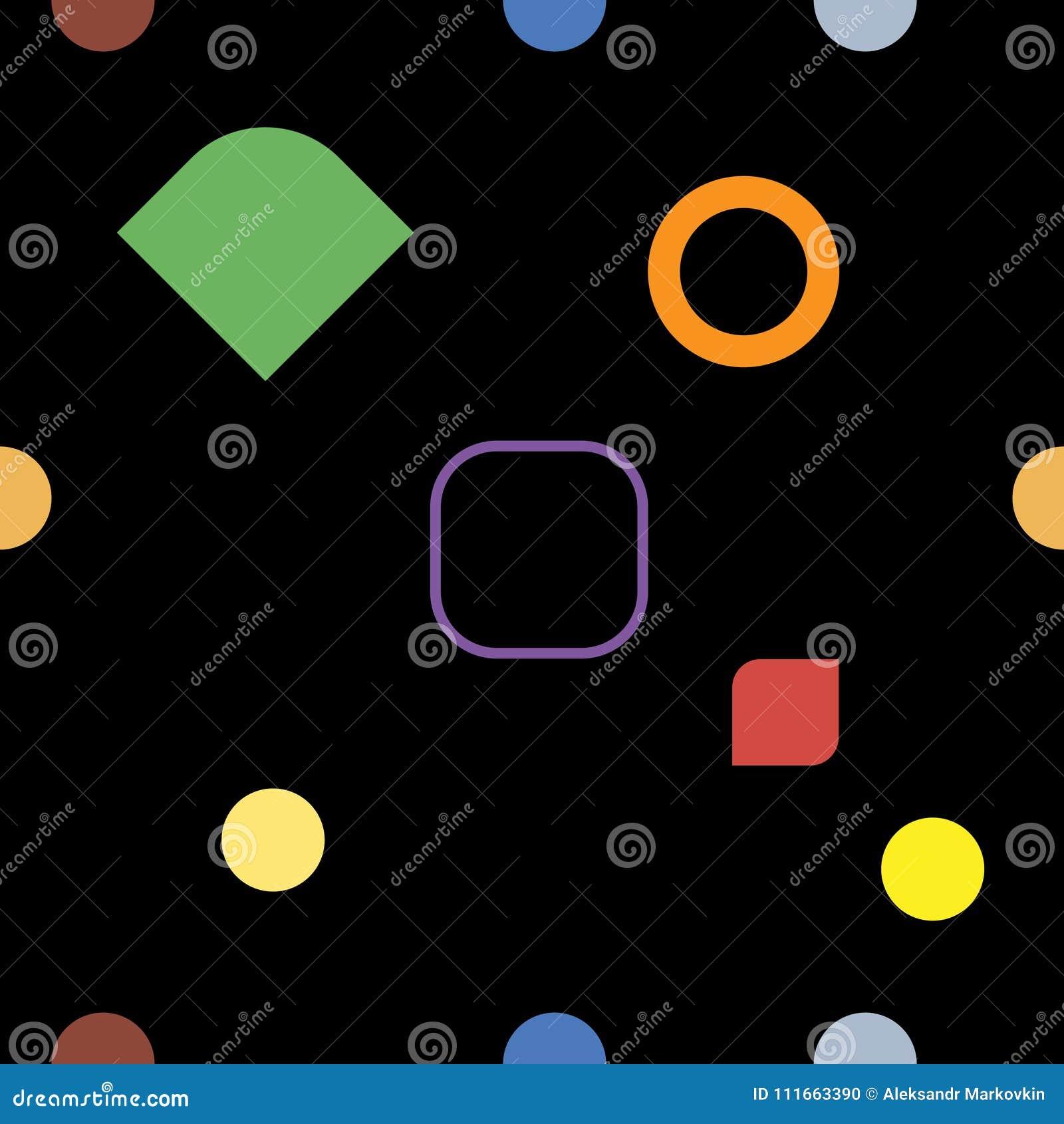 Modèle sans couture géométrique de noir et de couleur, vecteur