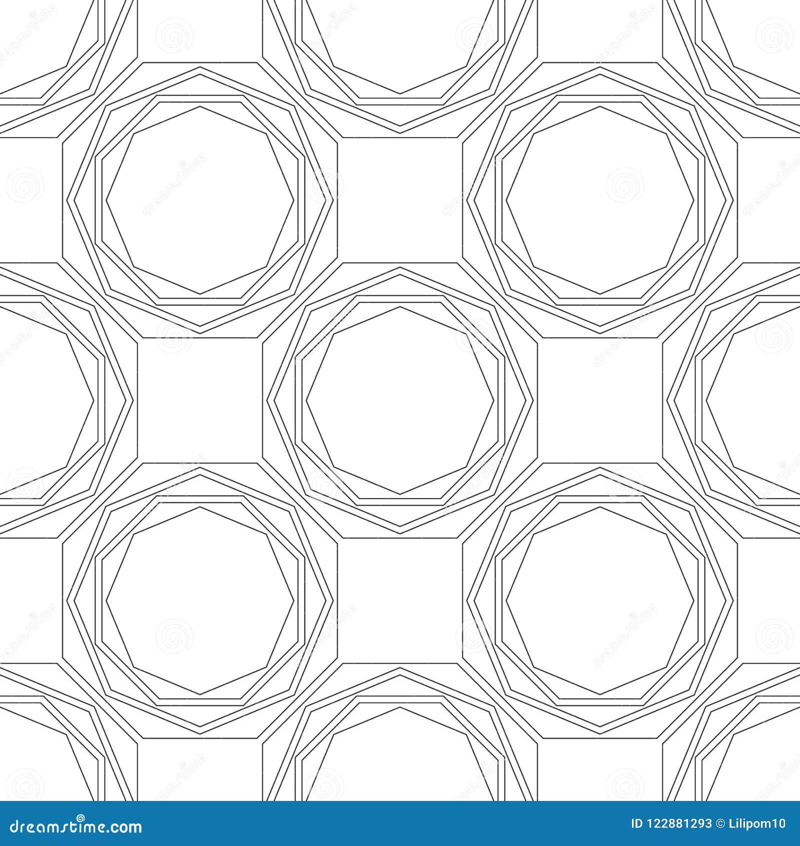 Modele Sans Couture Geometrique Noir Et Blanc Pour Livre De