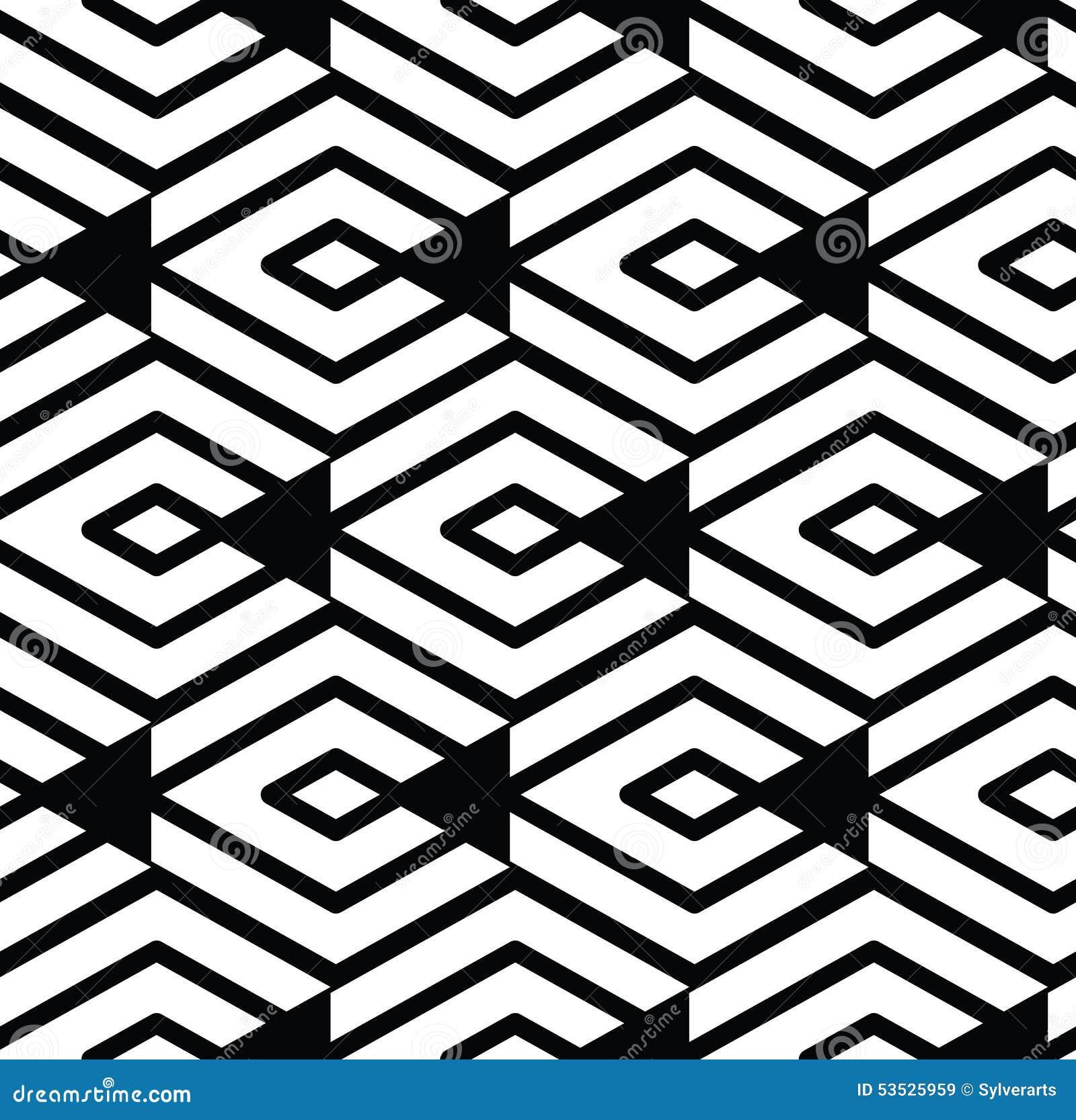 Modèle sans couture géométrique texturisé de résumé visuel monochrome