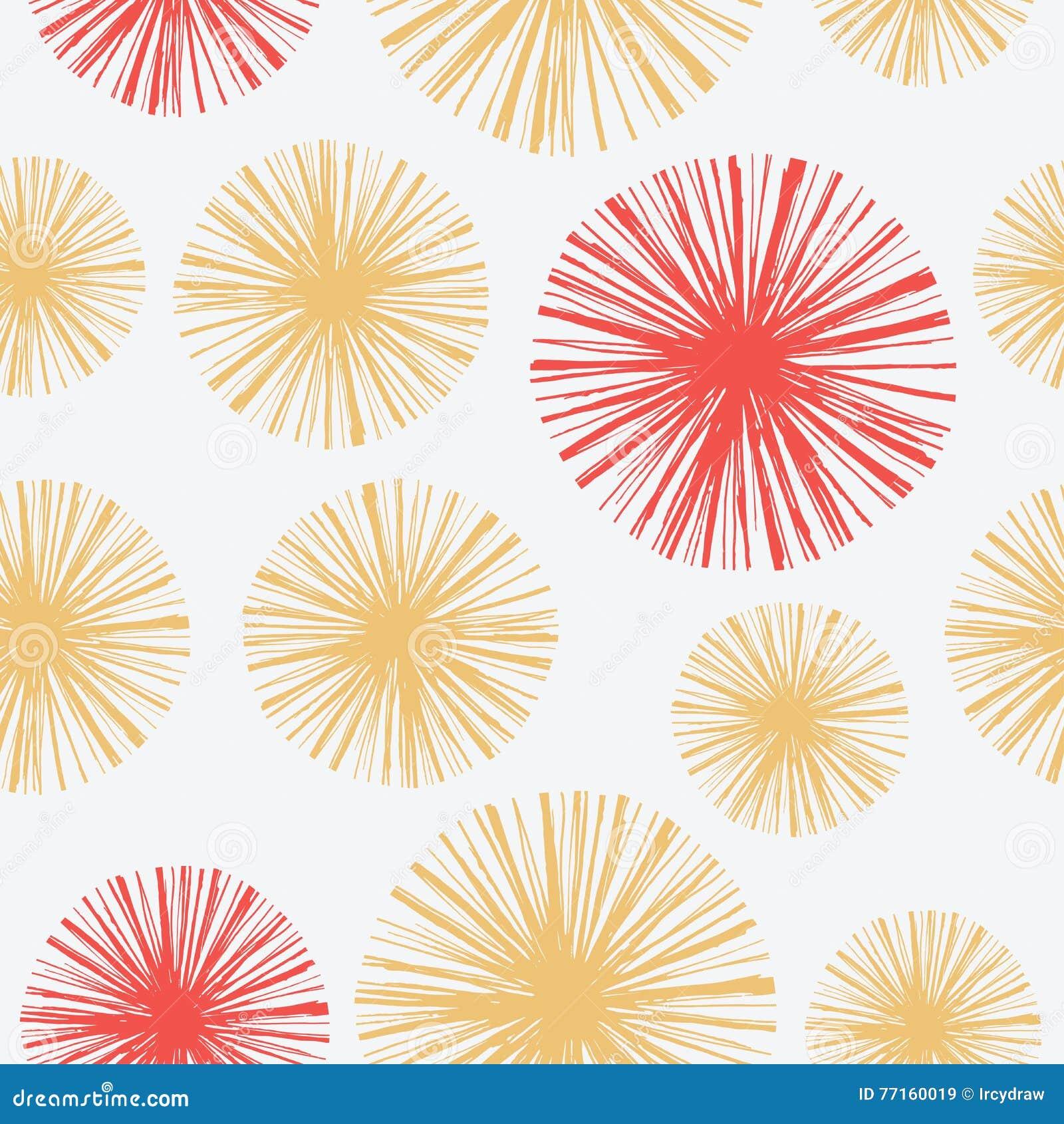 Modèle sans couture lumineux avec floral tiré par la main