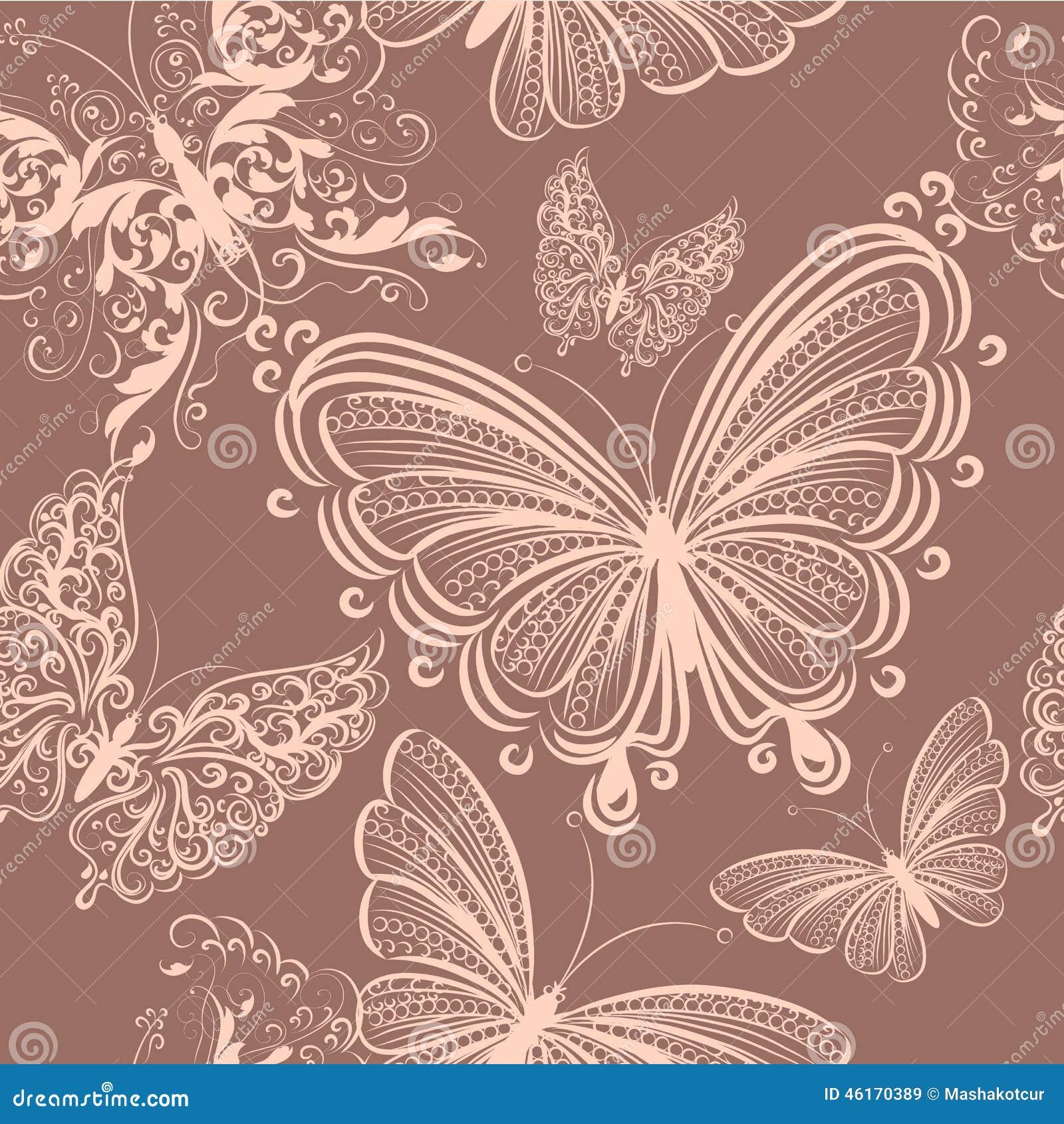 mod le sans couture mignon de papier peint avec des papillons illustration de vecteur image. Black Bedroom Furniture Sets. Home Design Ideas