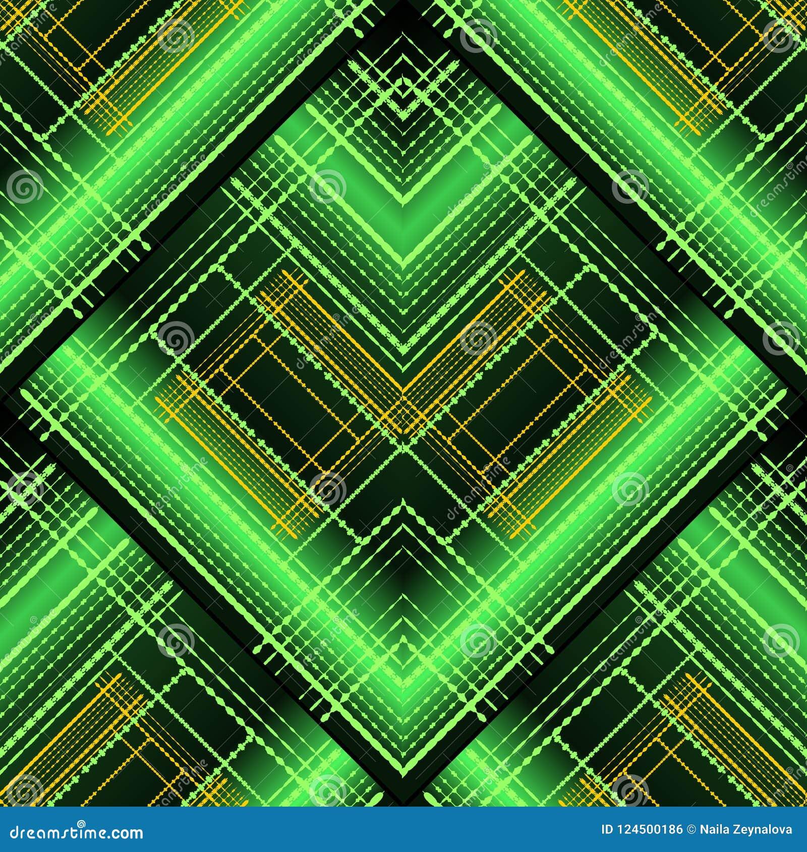 Modèle sans couture rayé géométrique abstrait du vecteur 3d SH lumineux
