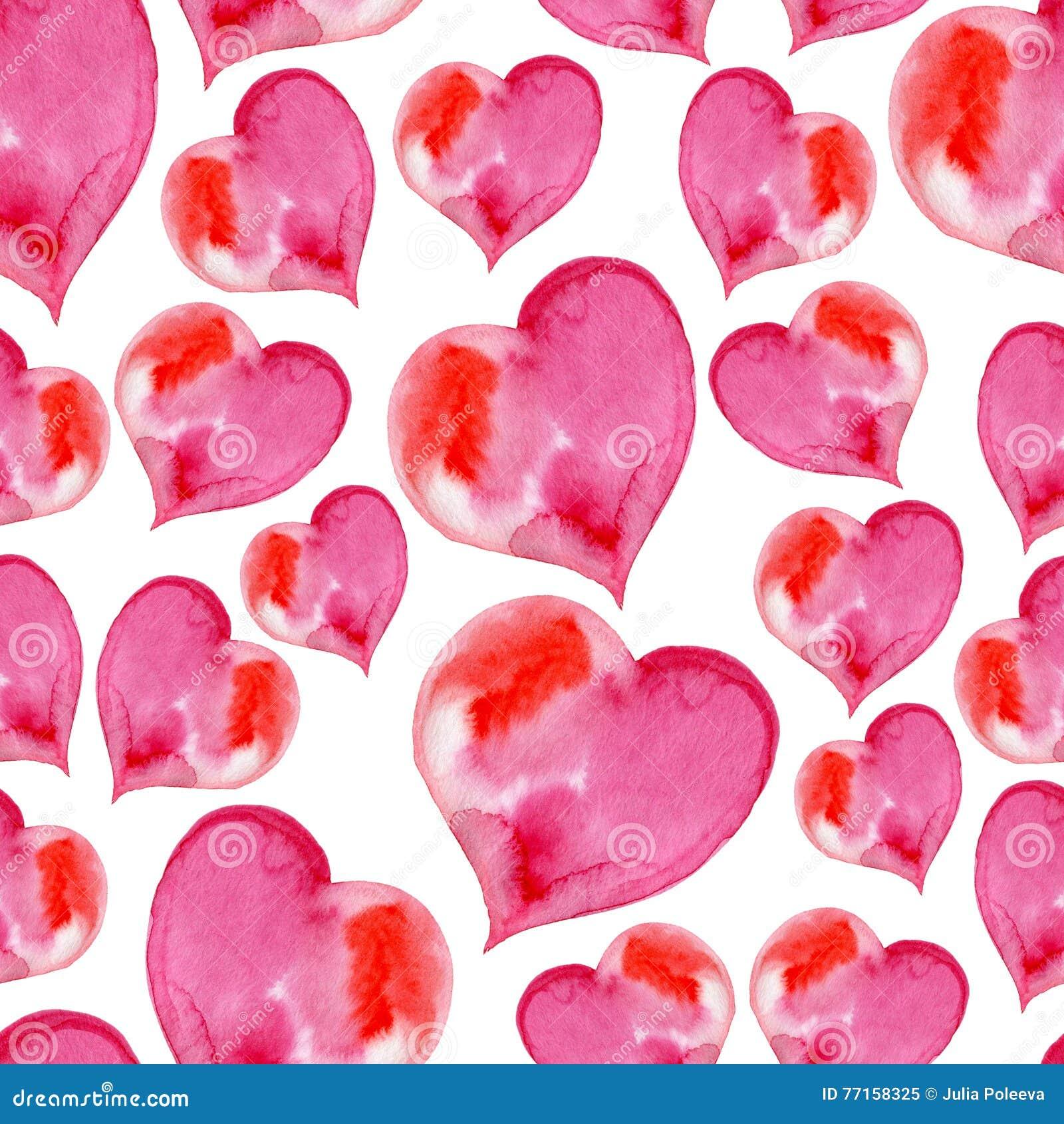 Modèle sans couture rose des coeurs pour Valentine