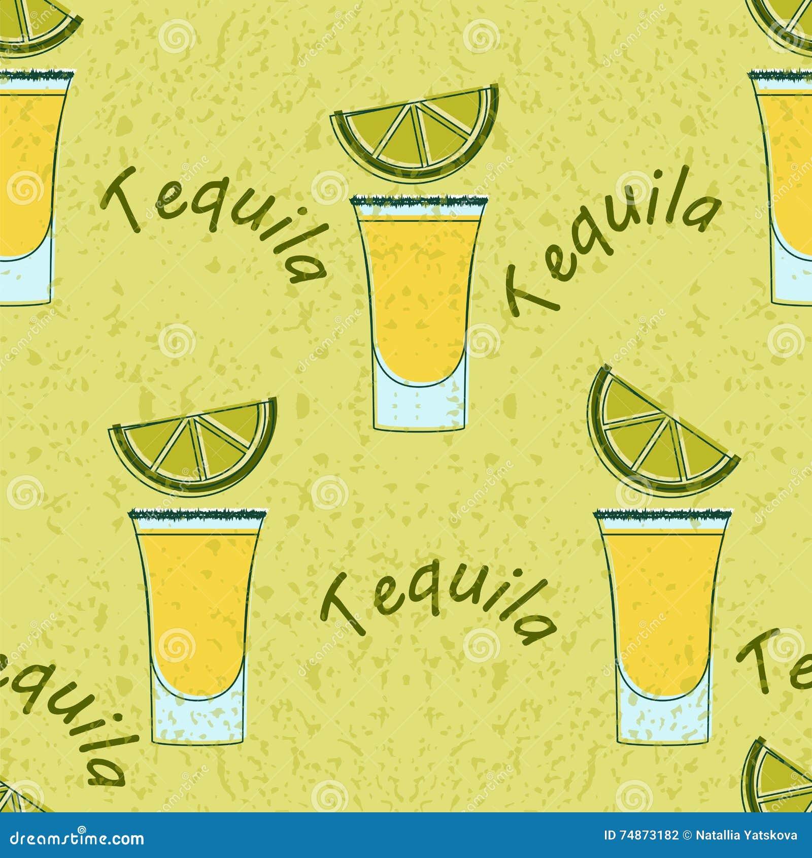 Modèle sans couture tiré par tequila