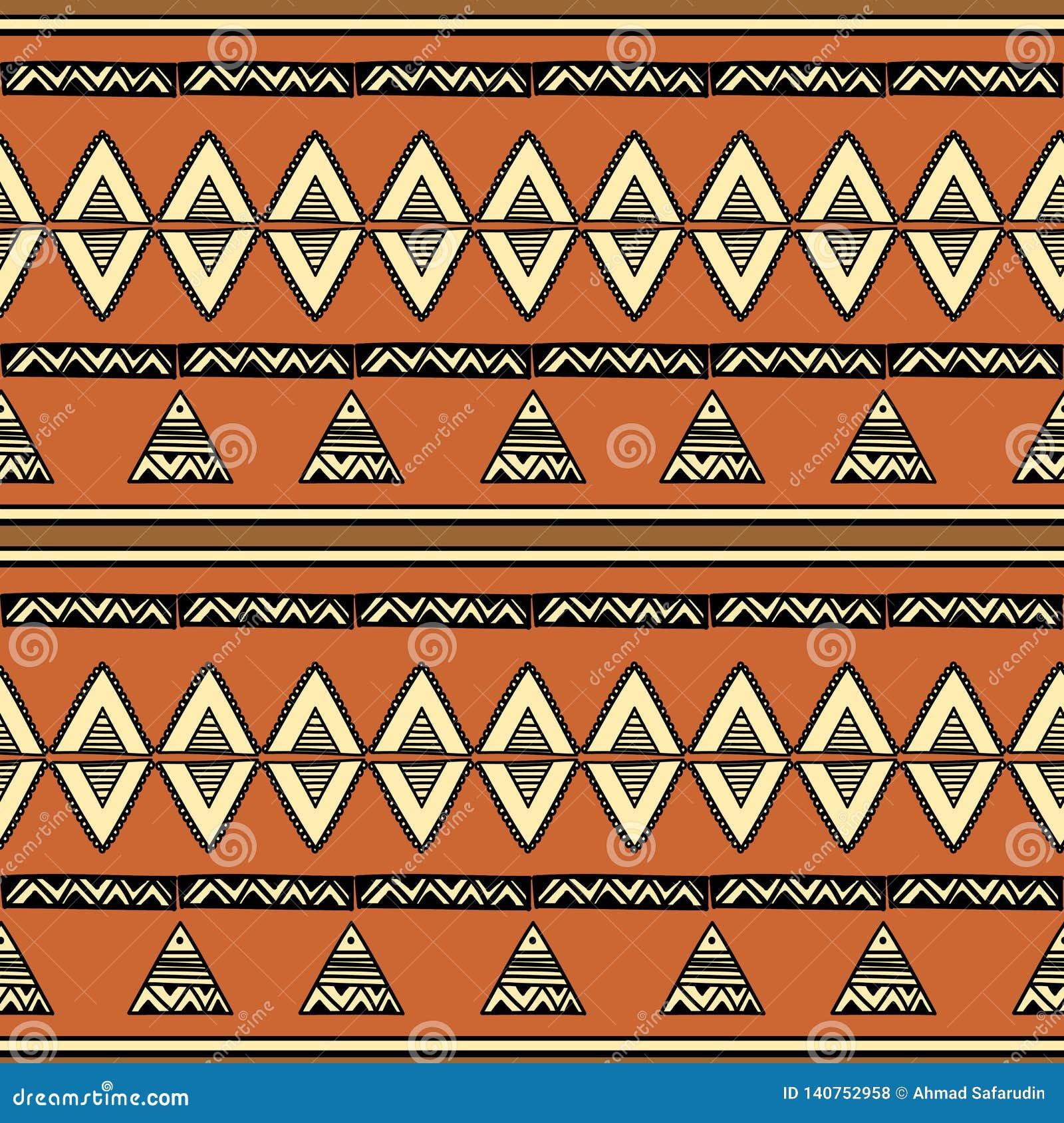 Modèle sans couture tribal de Bohème avec l abrégé sur à la mode coloré origine ethnique tirée par la main pour la copie de texti