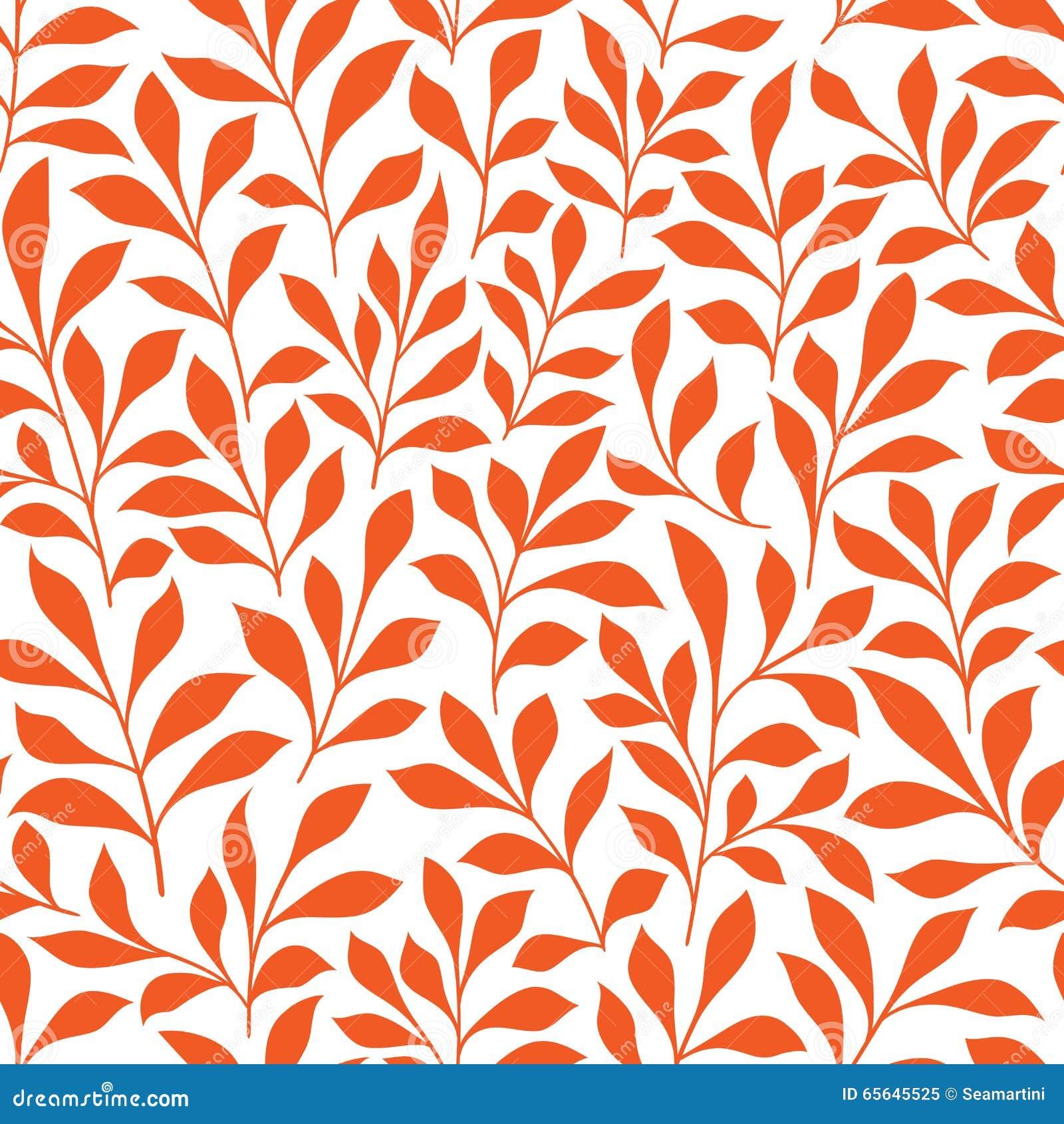 Modèle sauvage orange sans couture d herbes