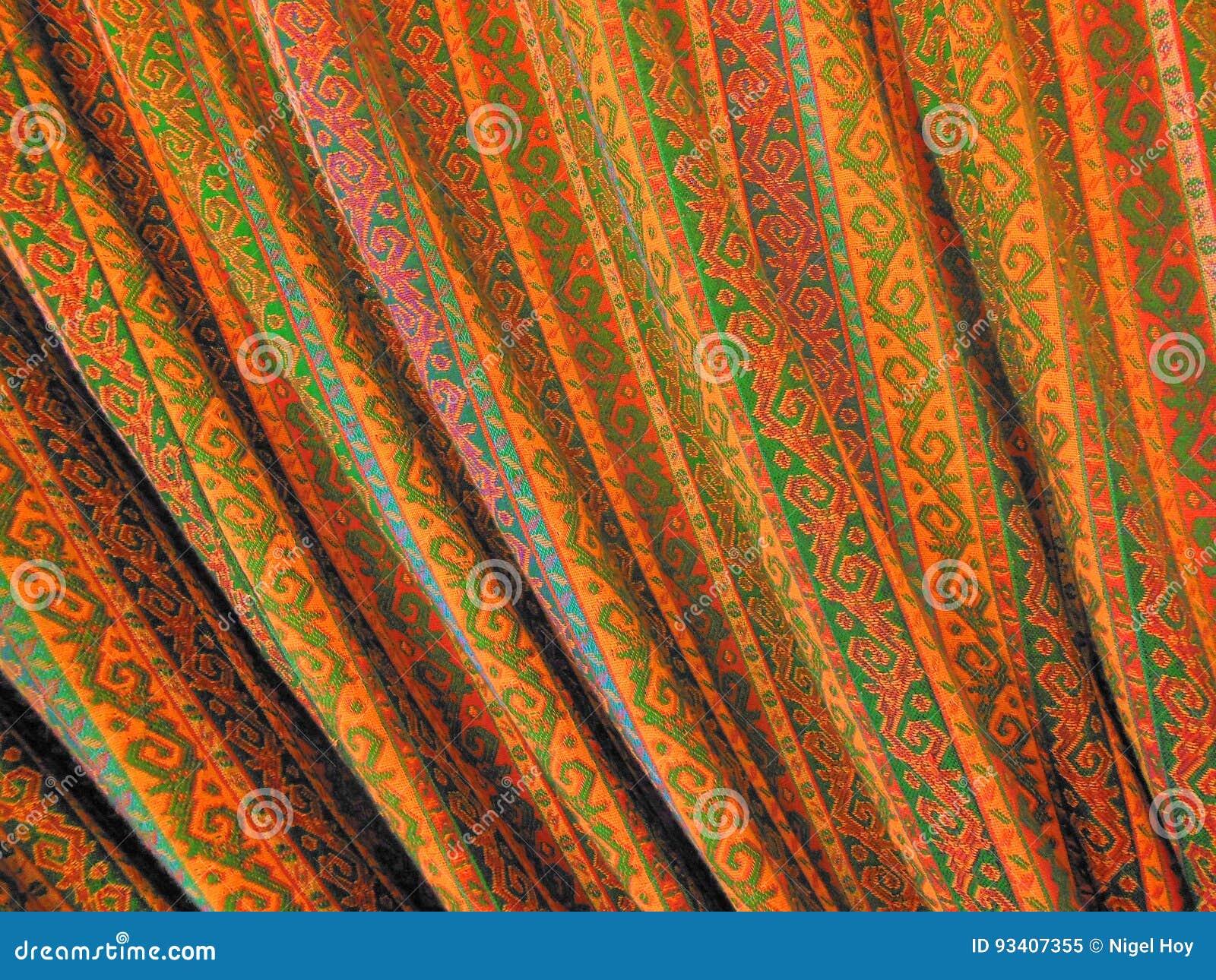 Modèle sur le rideau turc image stock. Image du tissu - 93407355