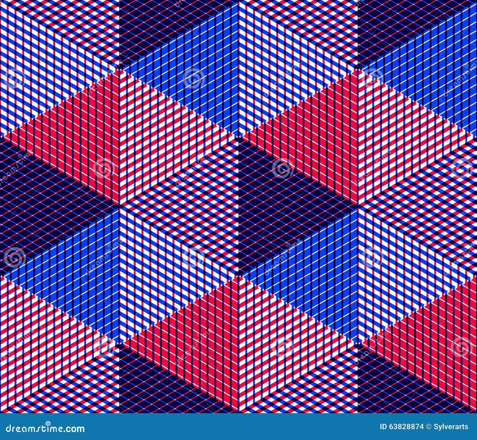 Modèle symétrique coloré sans fin, conception graphique Géométrique dedans
