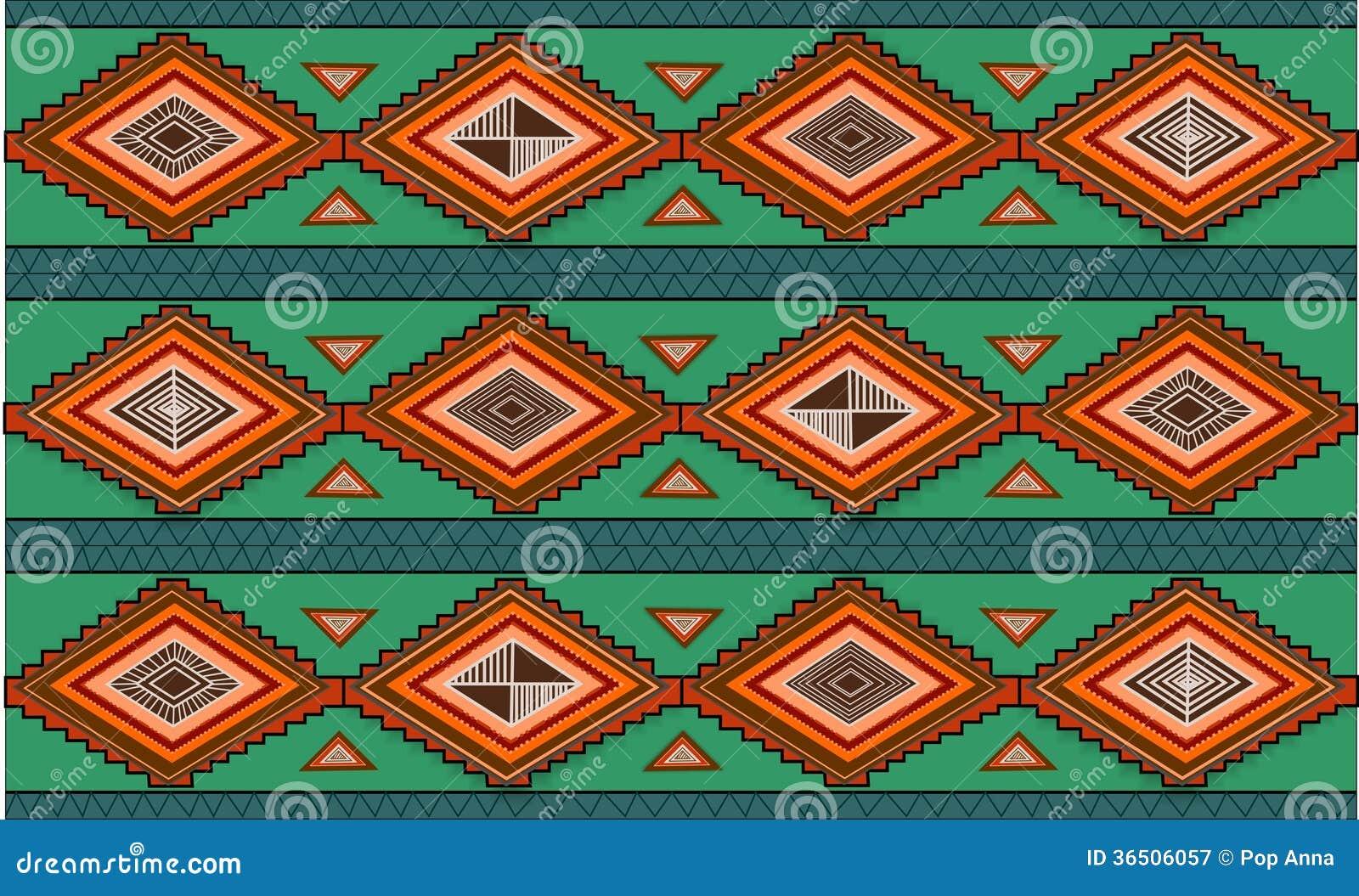 Modèle tiré par la main abstrait d ethno, fond tribal. Modèle