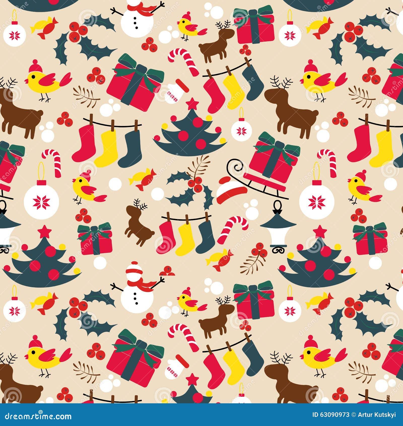 Download Modèle Traditionnel De Noël Vacances D'an Neuf Illustration de Vecteur - Illustration du décor, rouge: 63090973