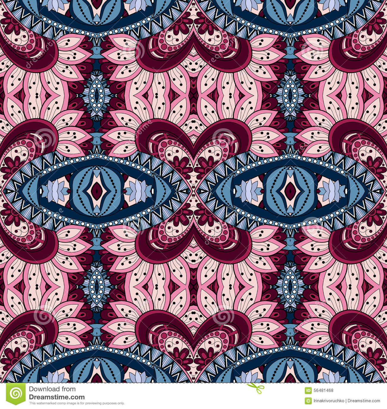 Modèle tribal abstrait sans couture (vecteur)