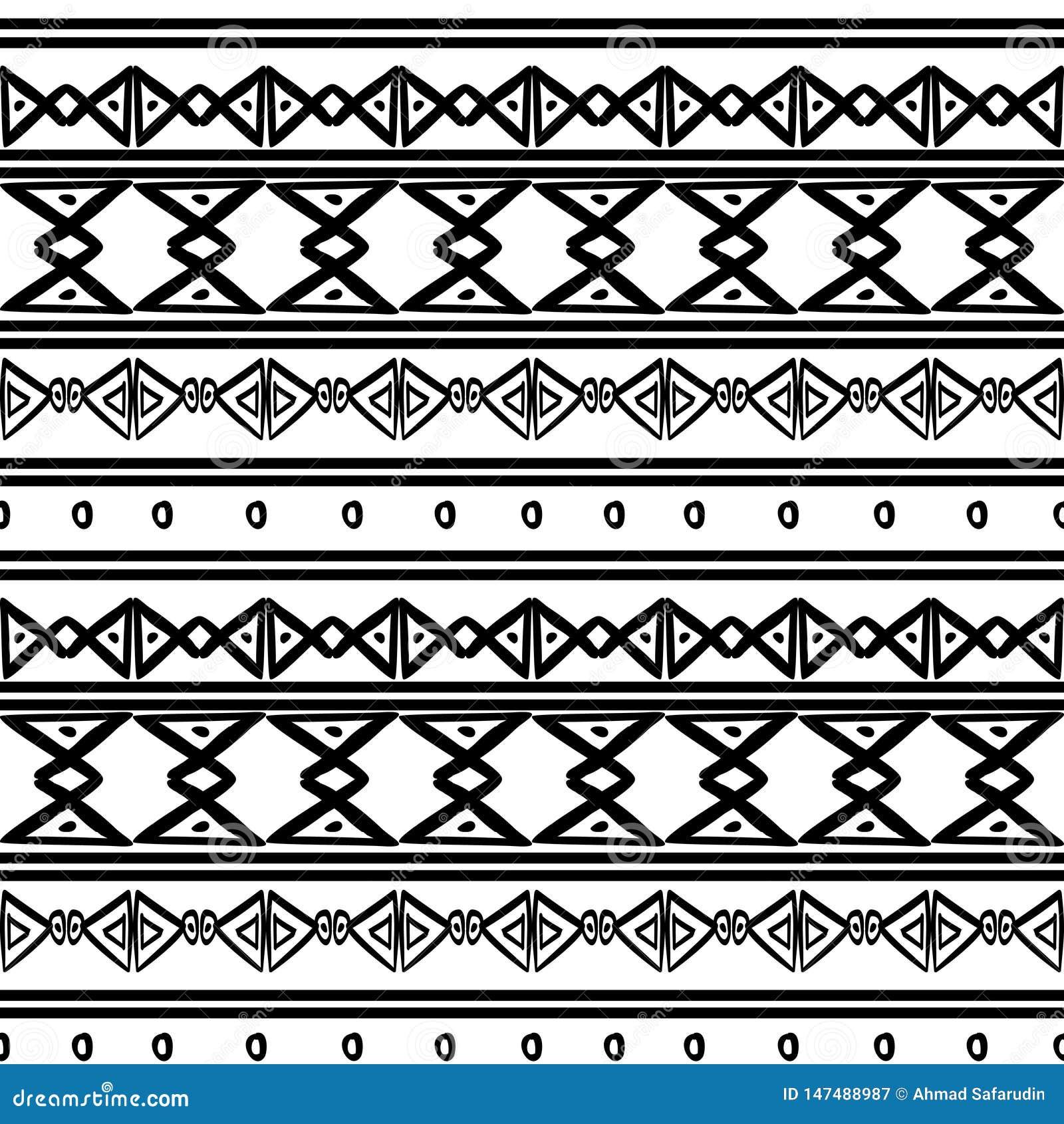 Modèle Tribal De Vecteur Avec Le Symbole De Dessin Africain