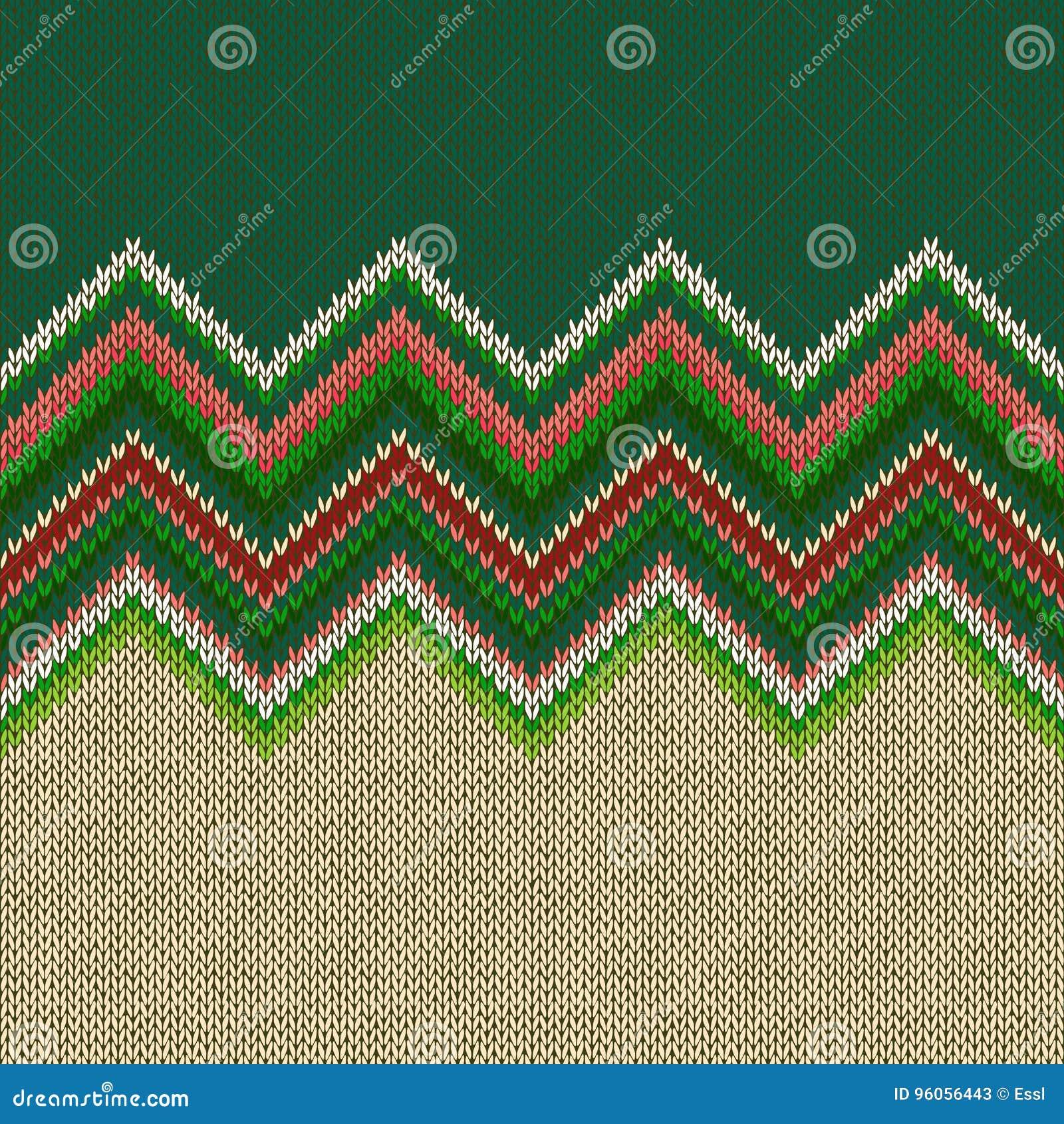 Modèle tricoté géométrique ethnique sans couture