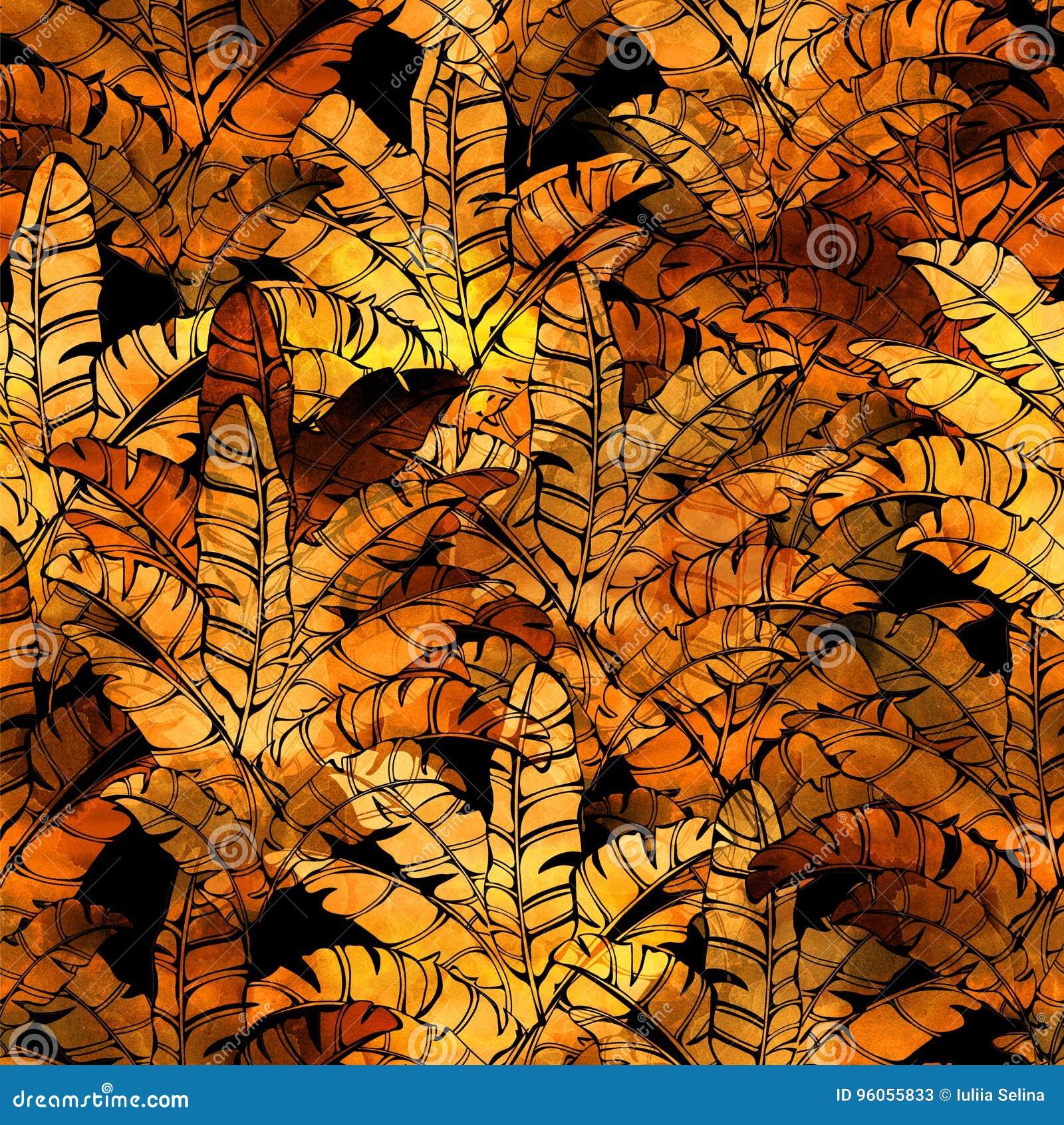 Modèle tropical d aquarelle