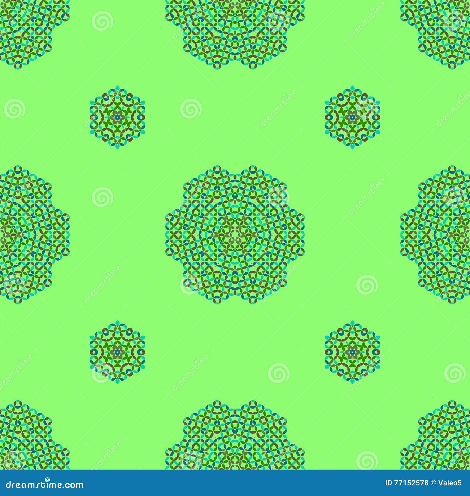 Modèle vert ornemental