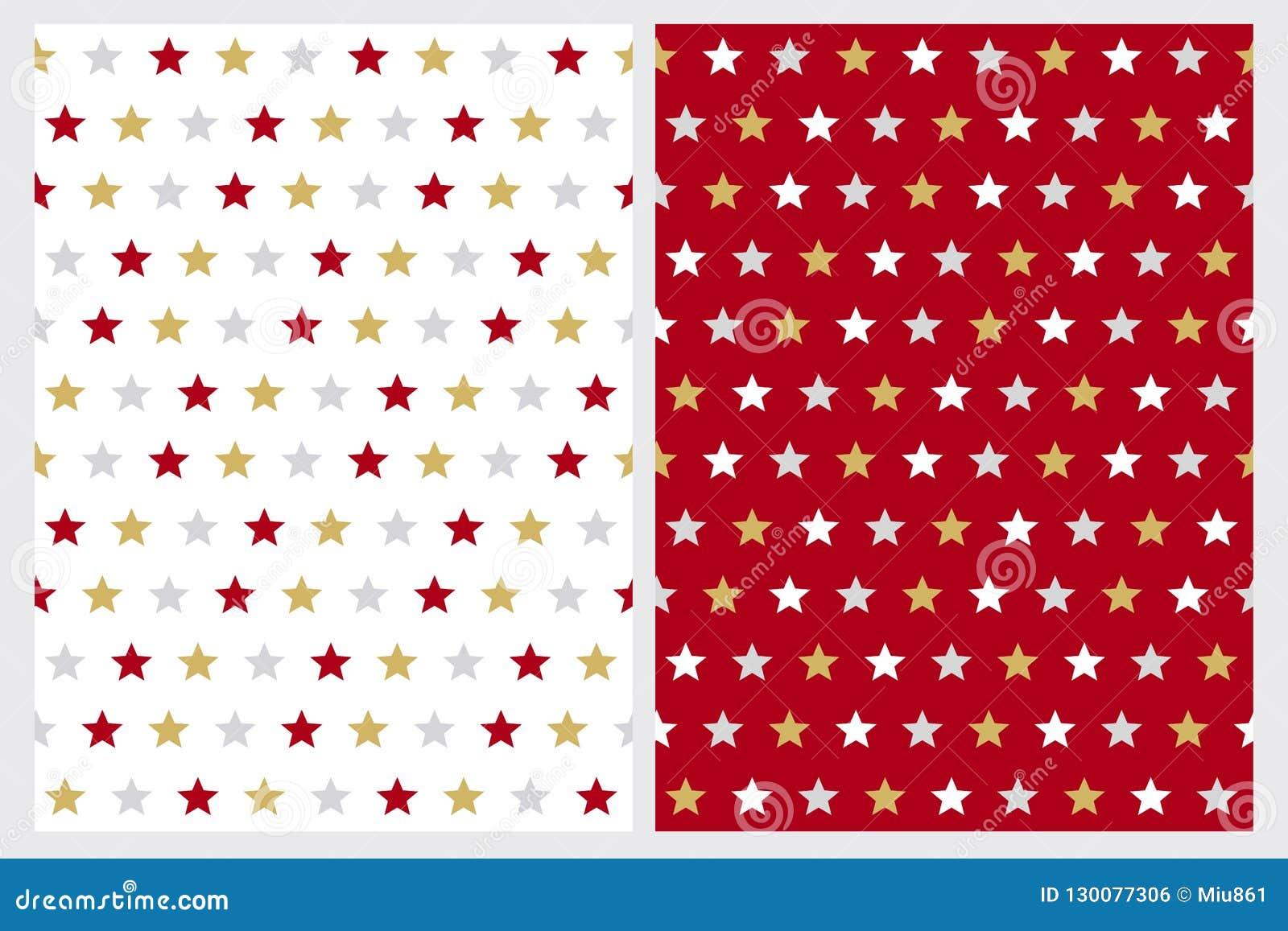 Modèles abstraits de vecteur d étoile Conception de rouge, d or, de gris et blanche