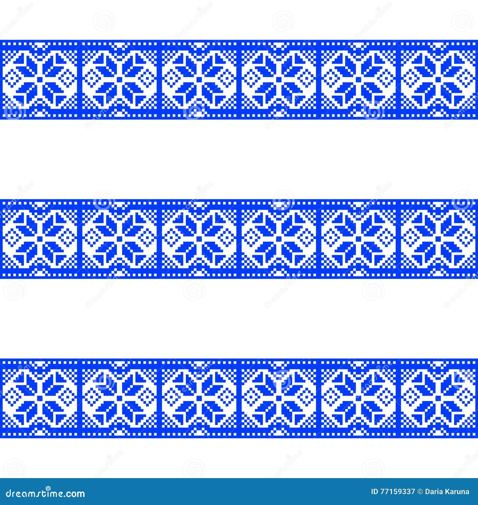 Modèles bleus sur un fond blanc