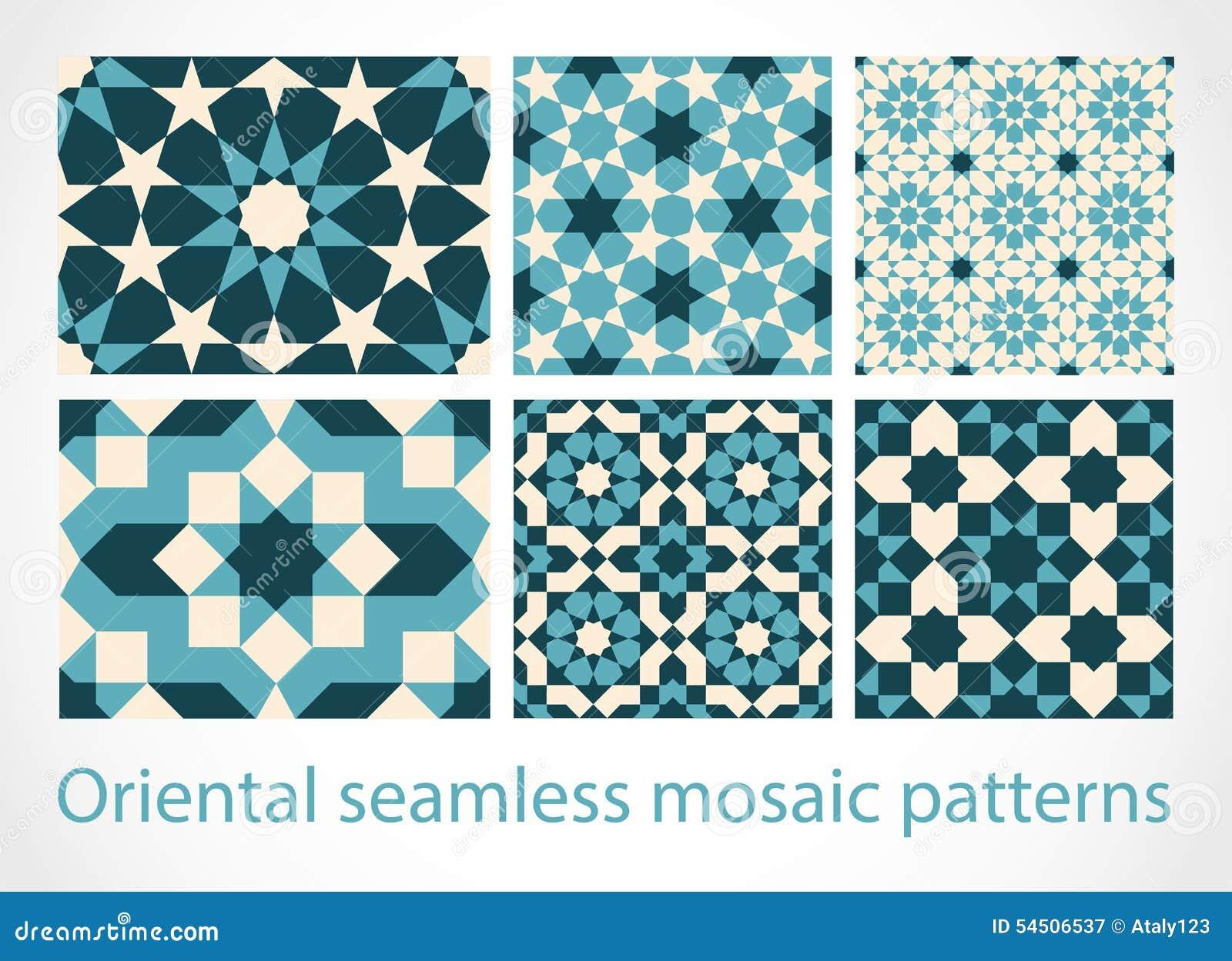 Modèles de mosaïque sans couture orientaux
