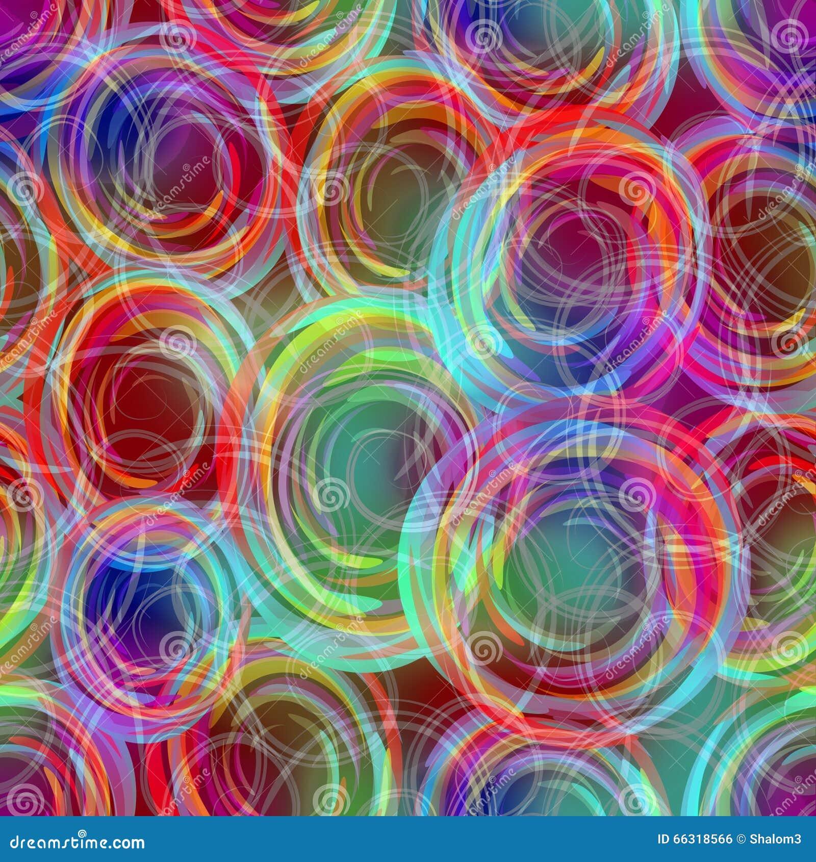 Modèles de recouvrement semi-transparents troubles de cercle dans les couleurs d arc-en-ciel, fond abstrait moderne dans des coul