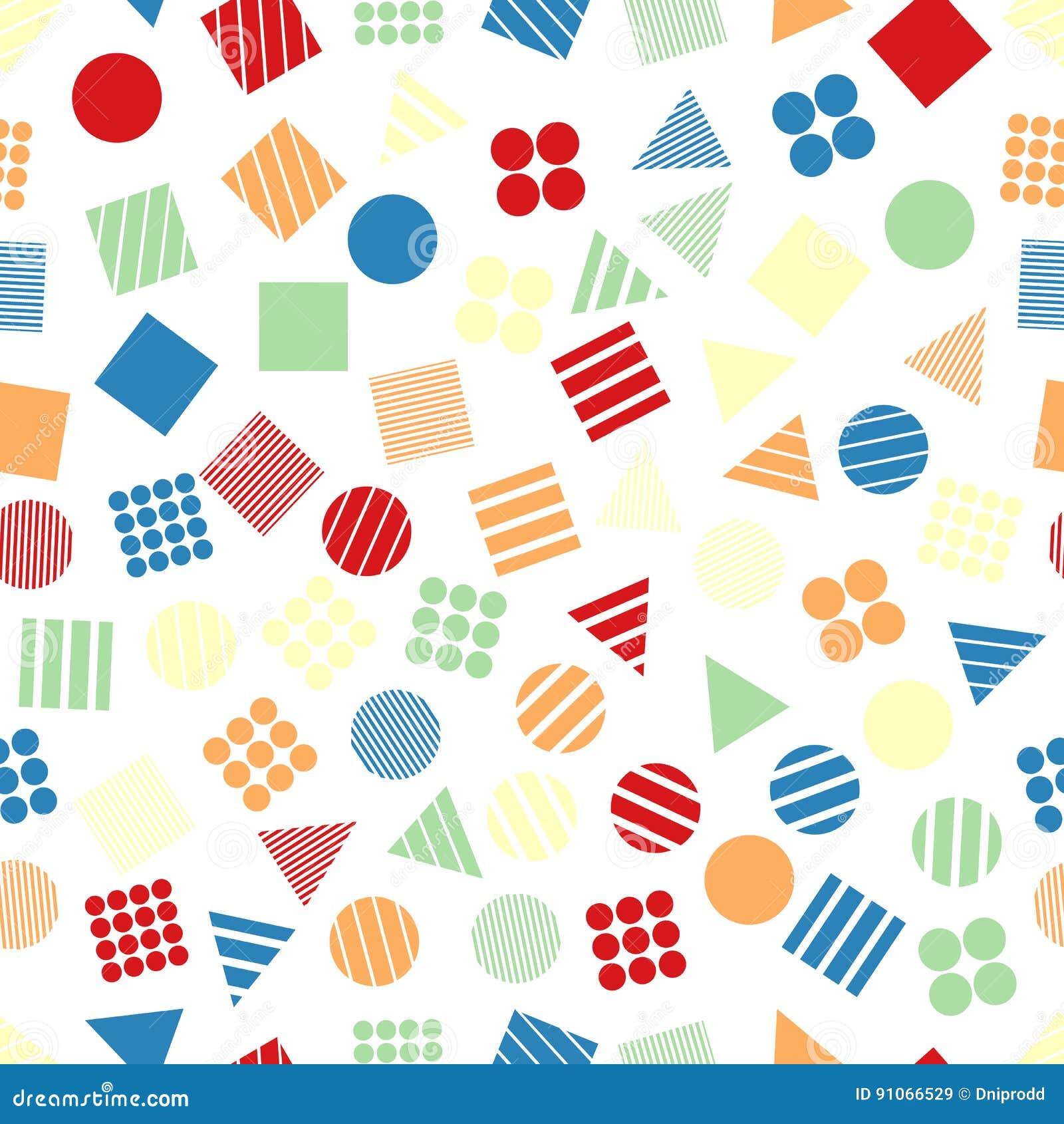 Modèles géométriques primitifs sans couture pour le tissu et les cartes postales