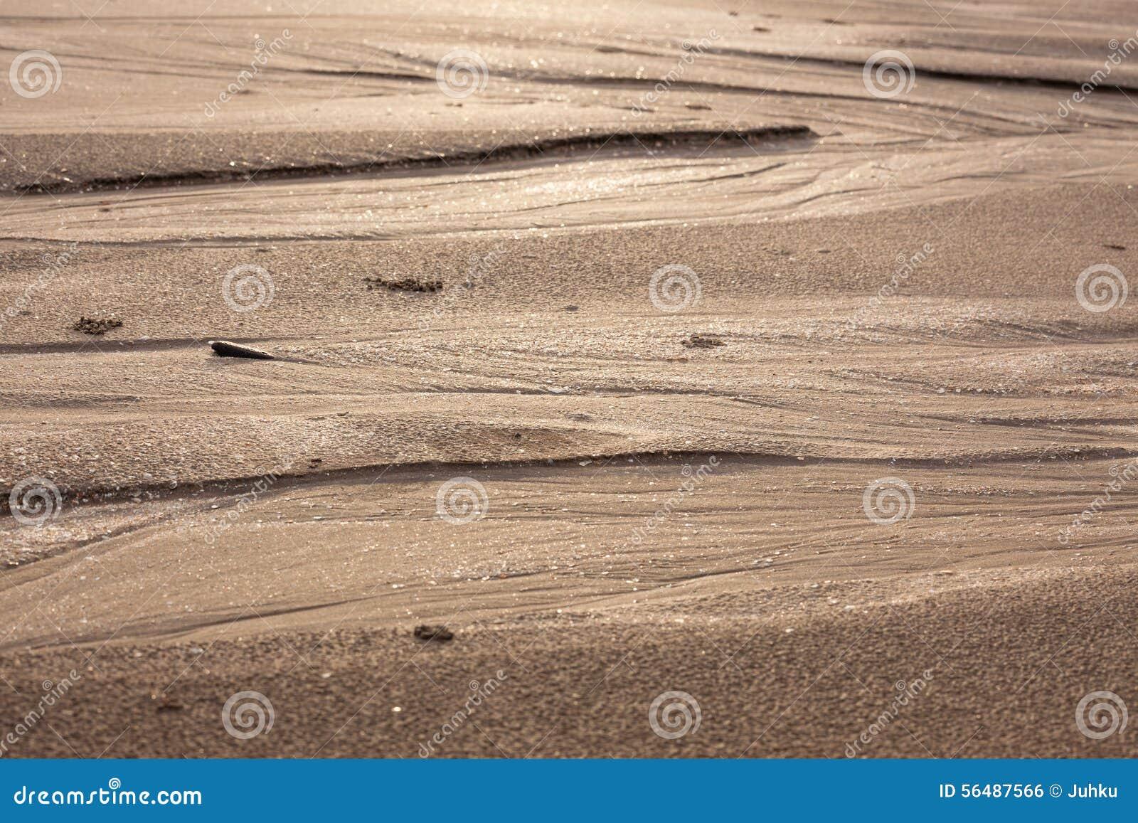 Modèles naturels de sable en plage