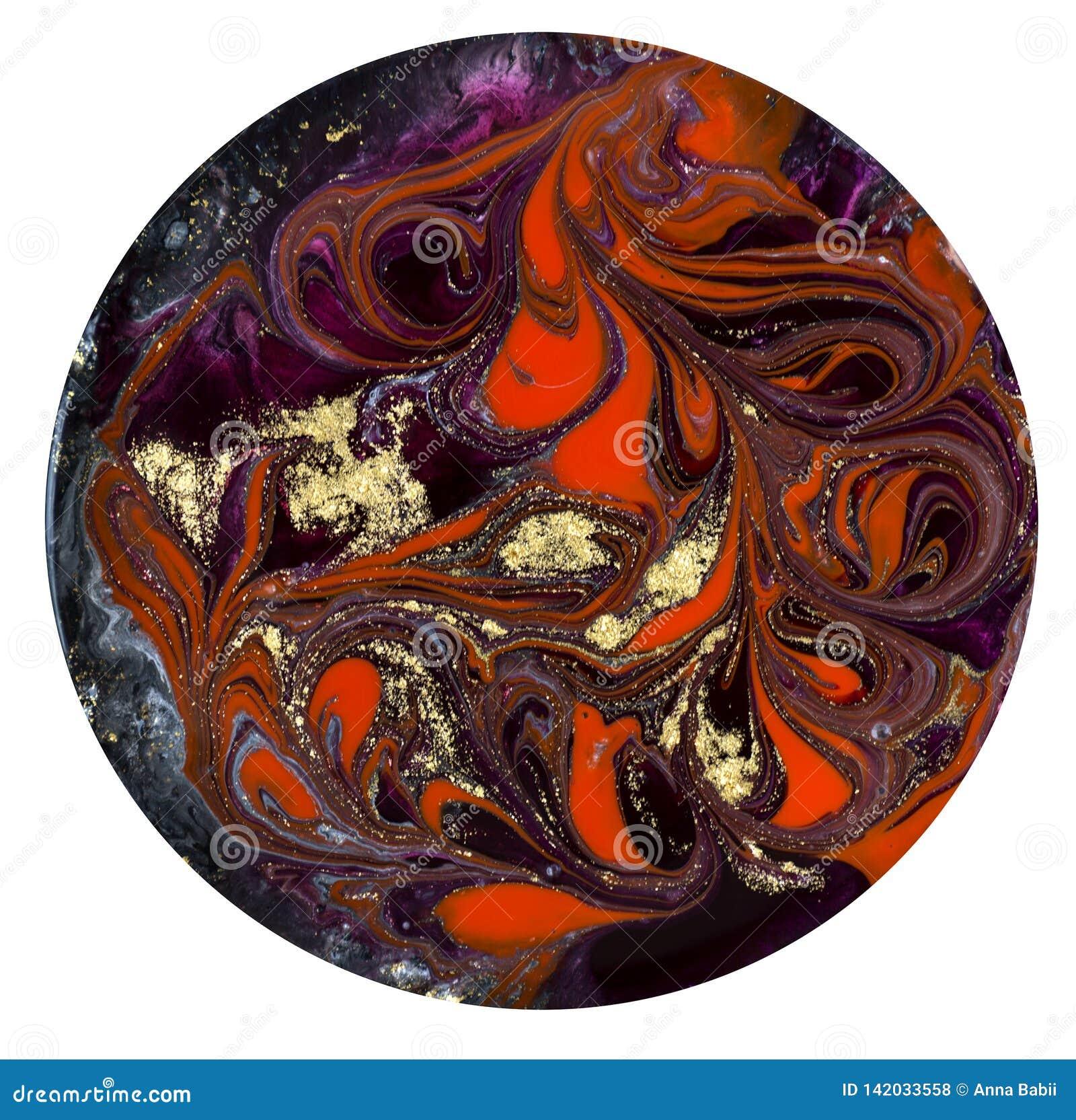 Mod?le de marbrure rouge et noir Texture liquide de marbre d or