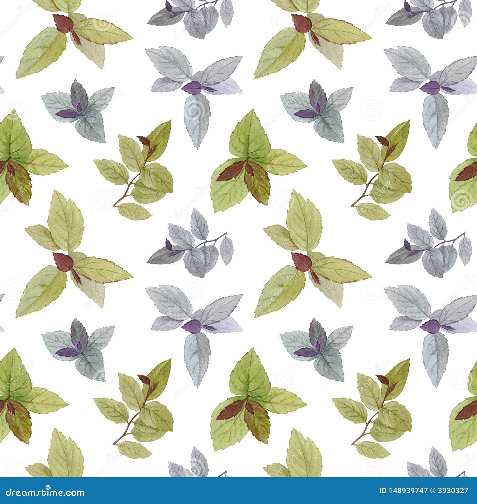 Mod?le sans couture d aquarelle Un ensemble de feuilles Feuilles peintes par aquarelle ?l?ment de conception Feuilles ?l?gantes p