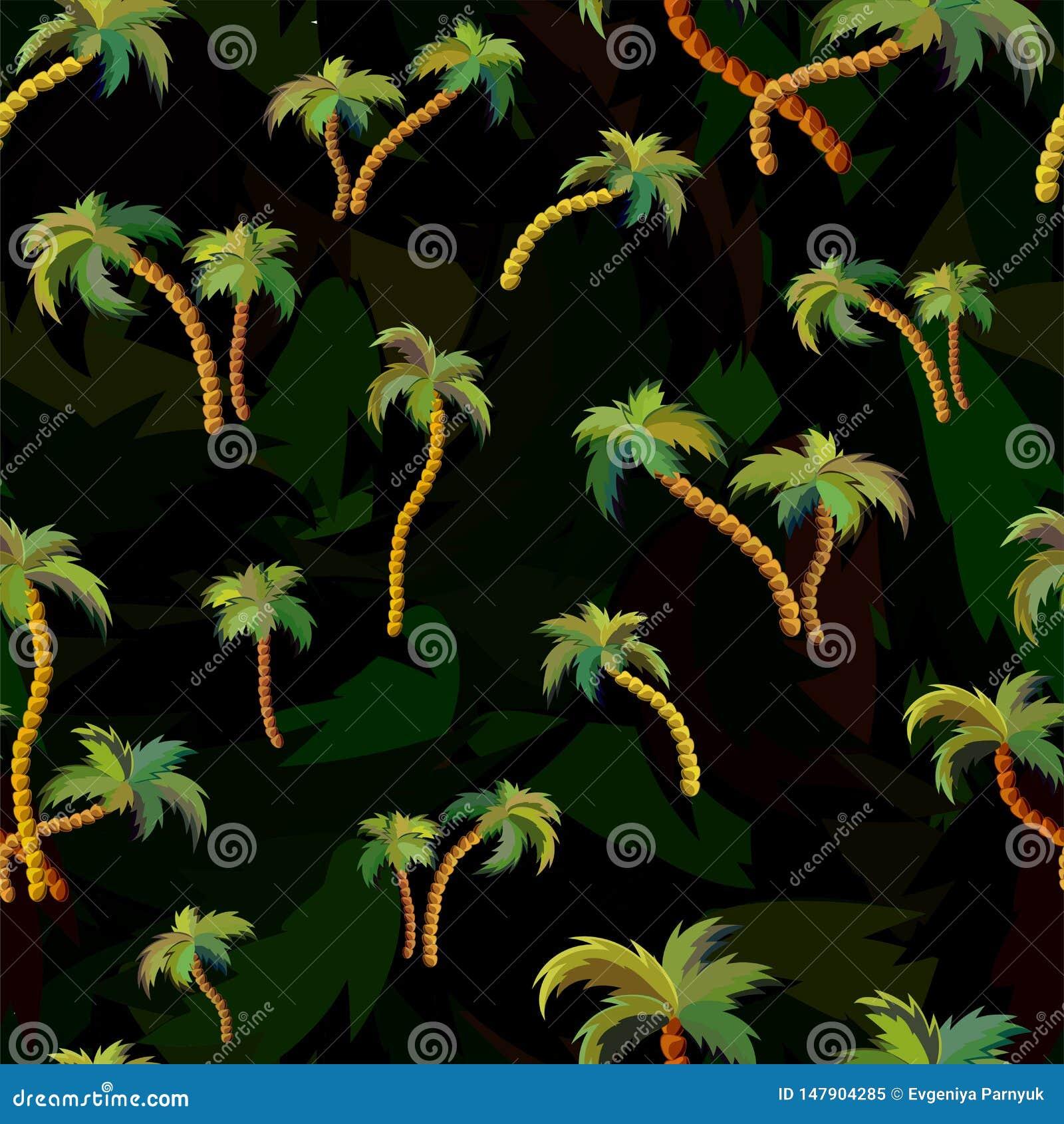 Mod?le sans couture de vecteur avec des palmiers