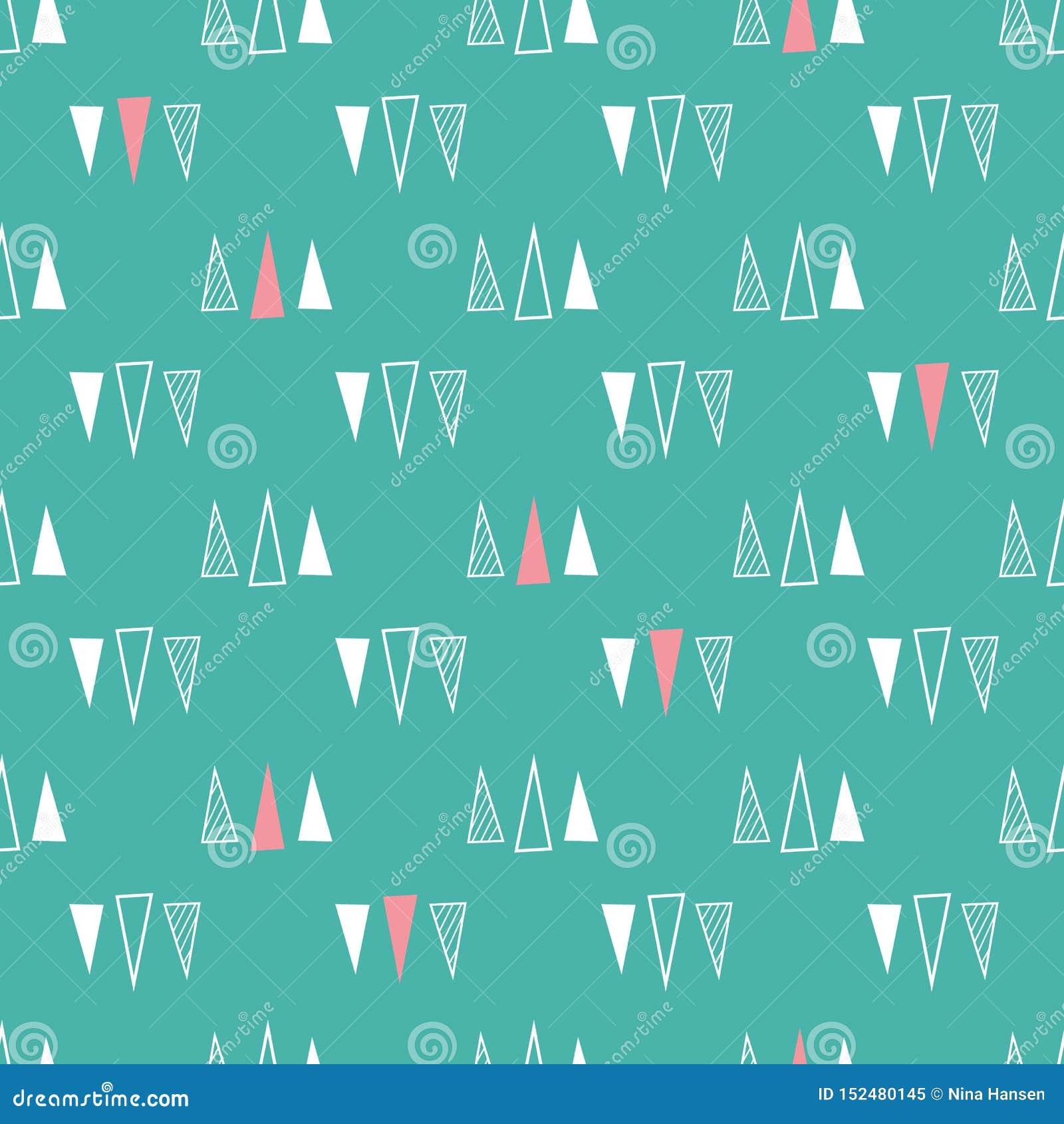 Mod?le sans couture des triangles sur un fond vert en bon ?tat