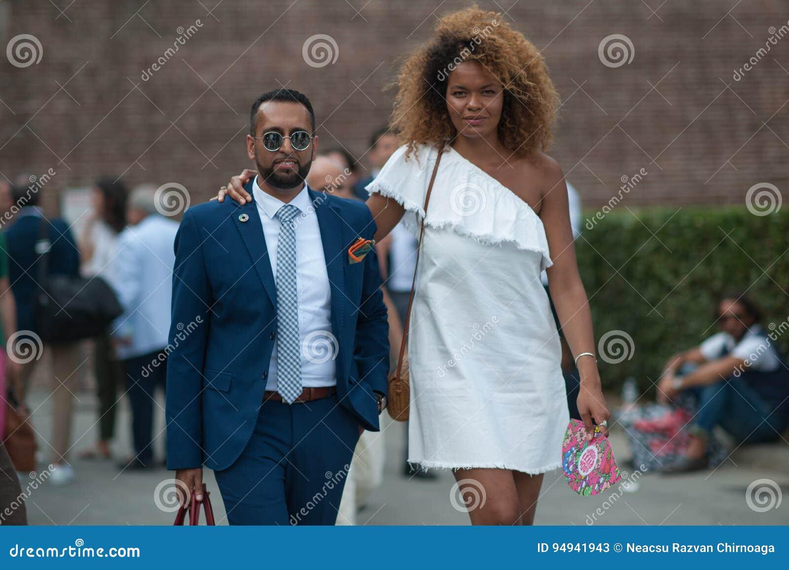 Mod ludzie przy Pitti Immagine Uomo