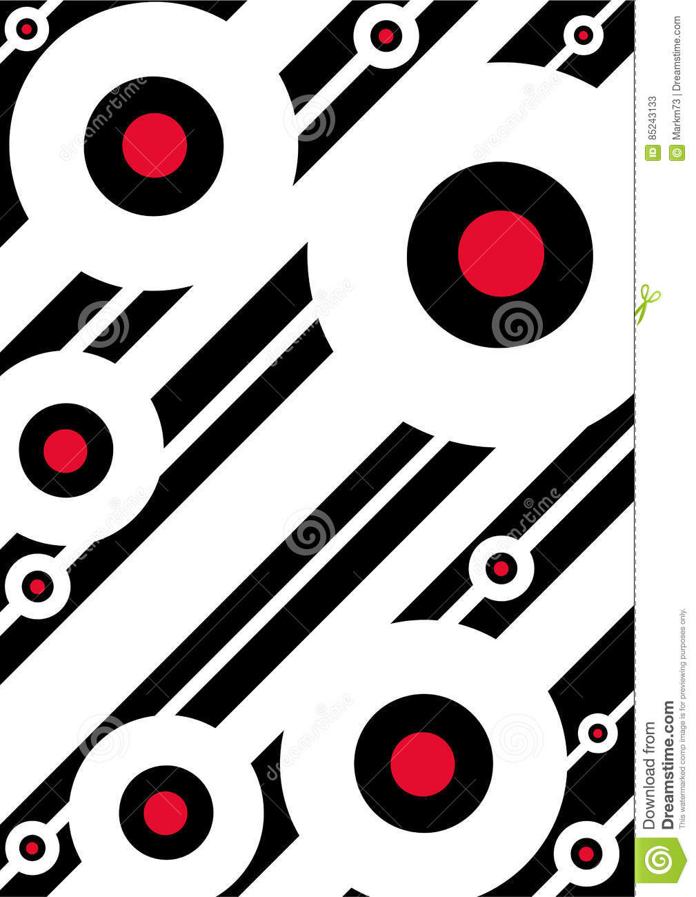 826f76d977a Mod Target Circle Pattern stock vector. Illustration of pattern ...