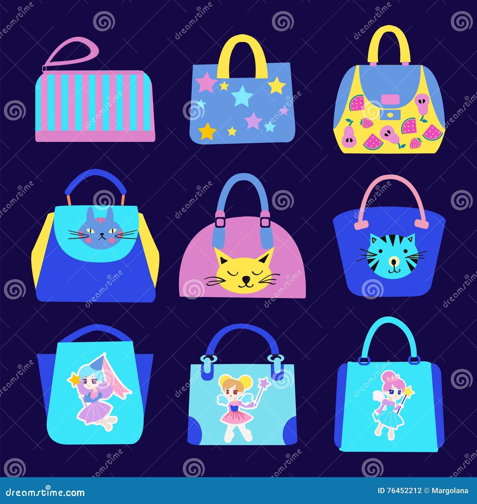 Moda Śliczna z kreskówka wzoru torby kolekcją
