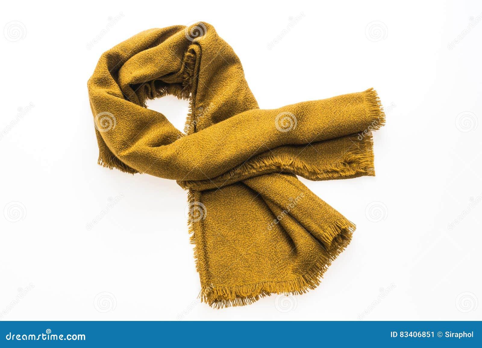 2b465cd089937 Moda żółty szalik dla zima sezonu odizolowywającego na białym tle. Więcej  podobnych zdjęć stock
