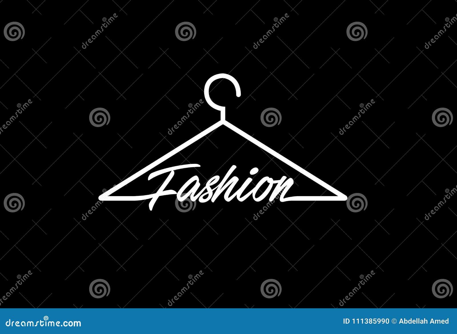 Moda żakieta wieszaka symbolu loga projekt