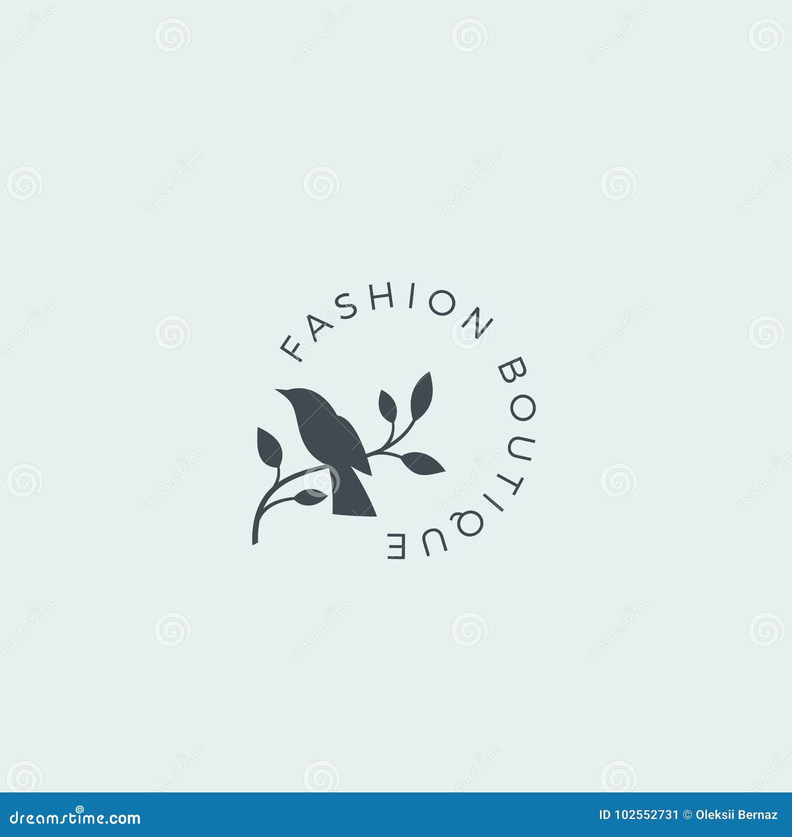 Moda Butika Wektoru Abstrakcjonistyczny Znak Symbol Lub Loga