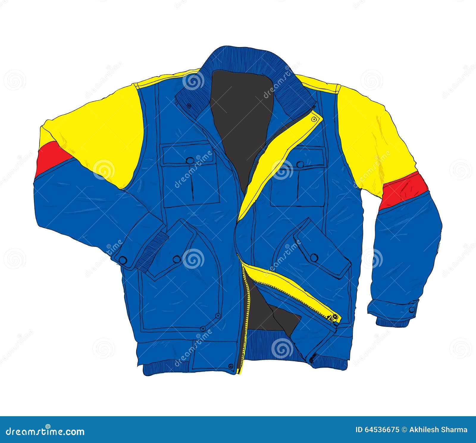 Moda del desgaste del invierno - ejemplo casual del vector de la chaqueta