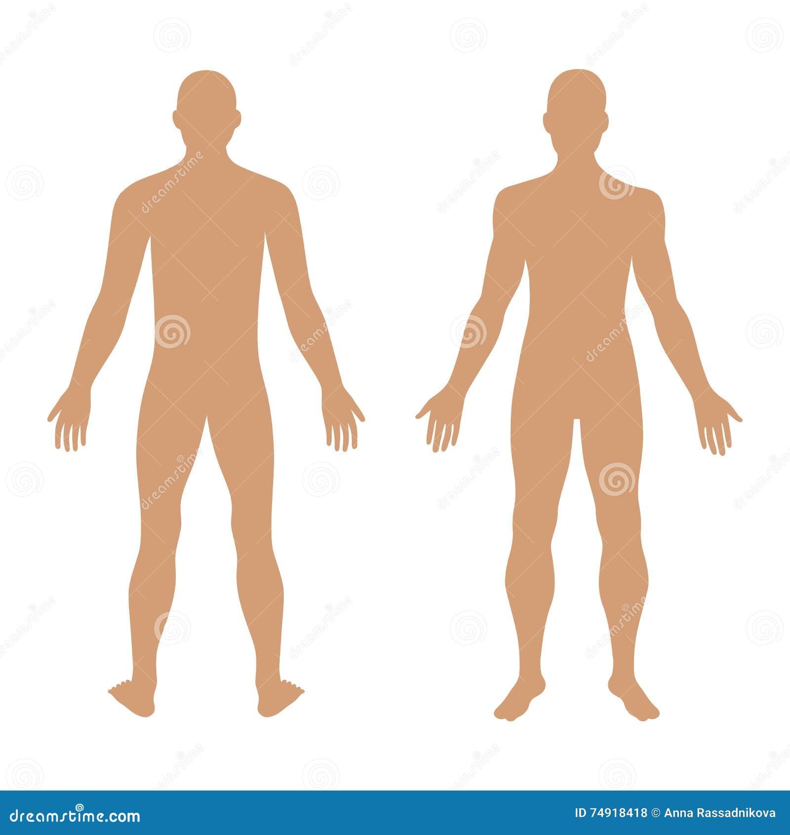 Moda mężczyzna szablonu postaci stała sylwetka (przód & plecy rywalizujemy
