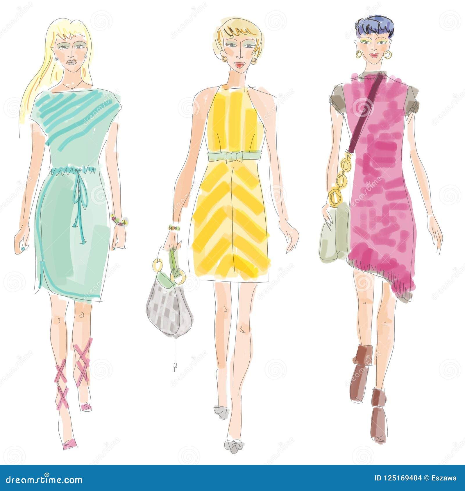 Moda modeshow clipping illustration path
