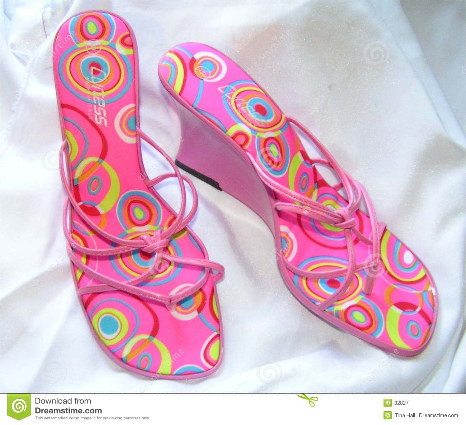 Moda sandałów różowy klina