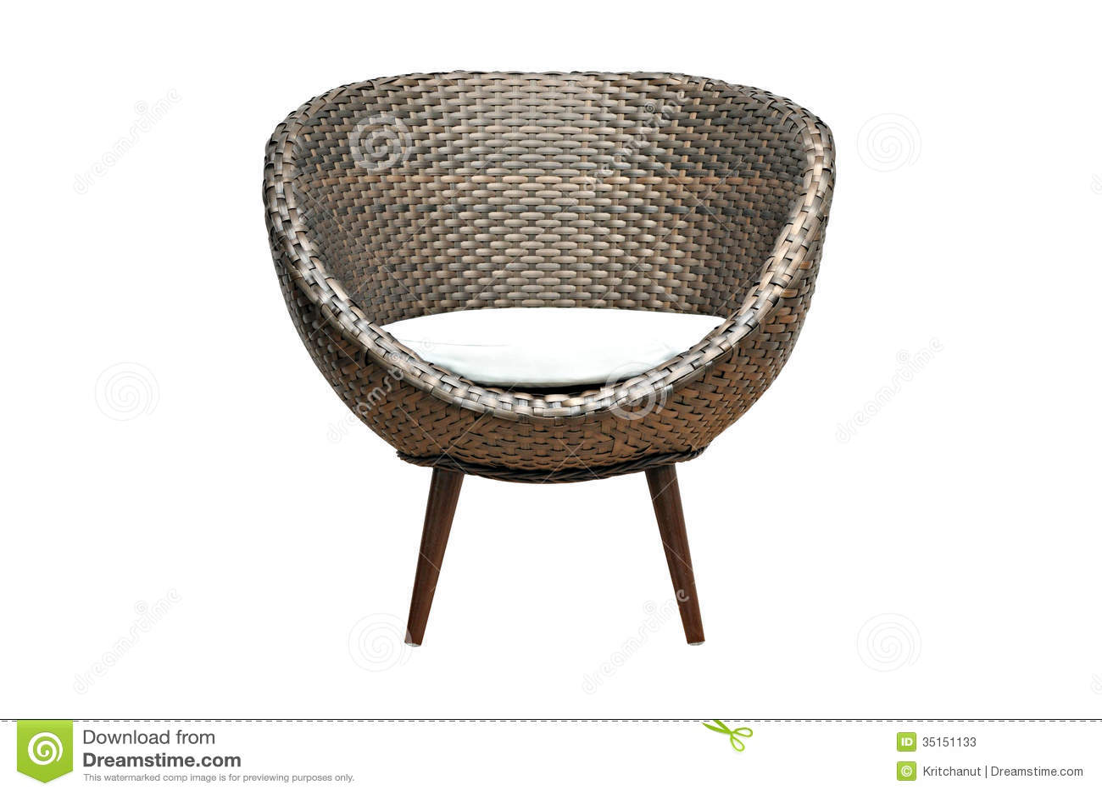 Beautiful Modern Wicker Chair Stock Photos Image 35151133