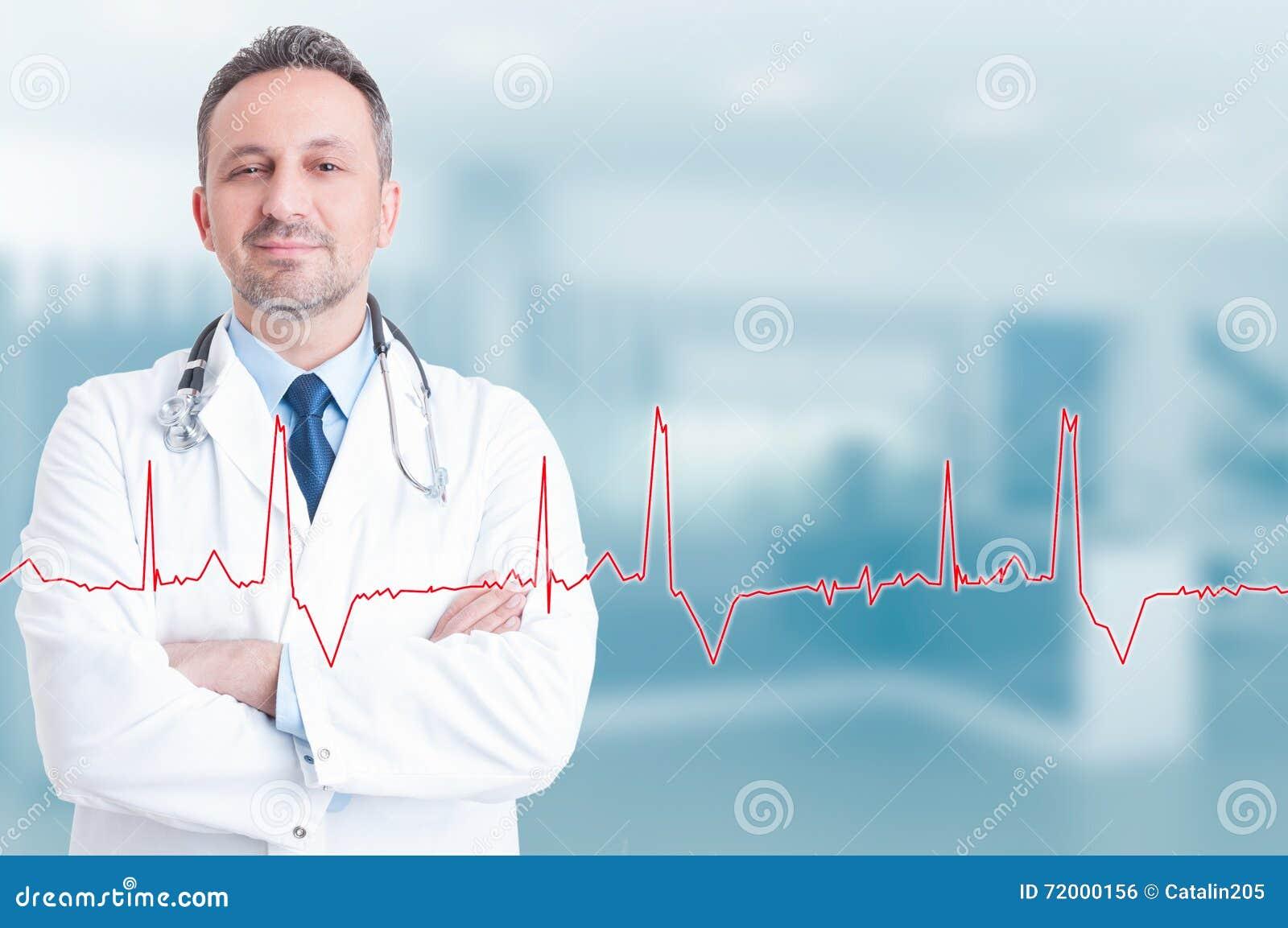 Mode de vie sain et concept médical avec le jeune cardi sûr