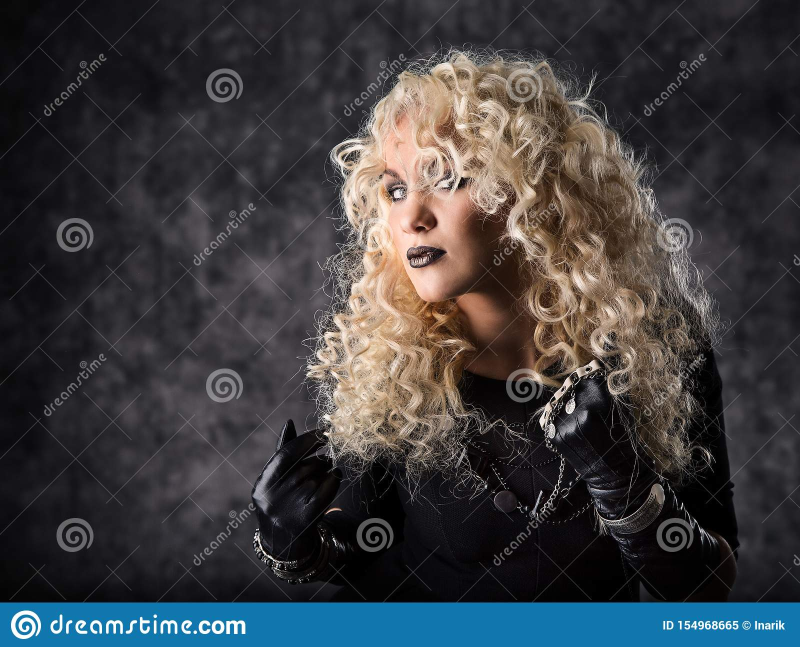 Fashion Model Curly Hair, Young Woman Beauty Portrait, Hairstyle ...
