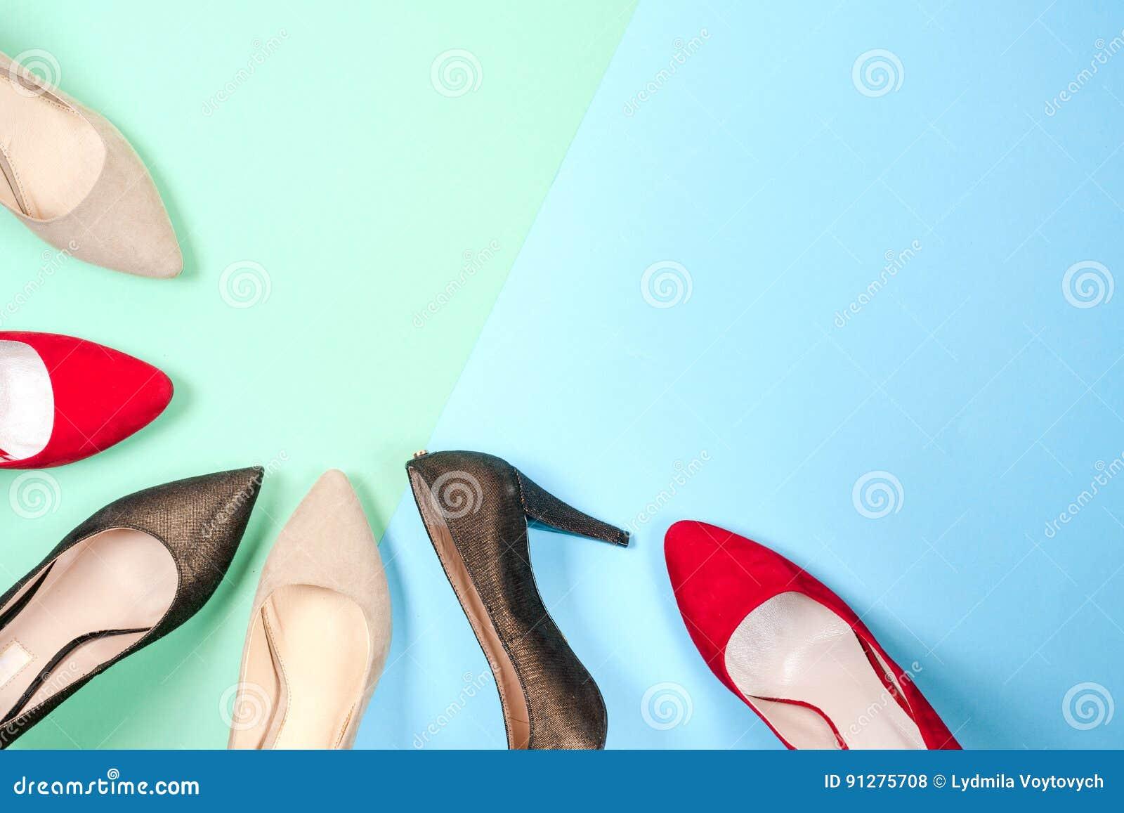 Mode olika skor för kvinnlig på höga häl